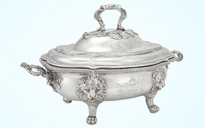 George III Sterling Silver Tureen, Paul de Lamerie, London