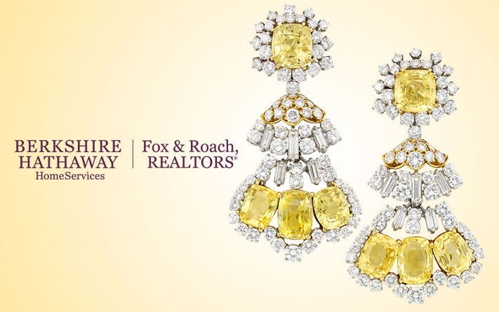 Yellow Sapphire and Diamond Pendant Earclips, David Webb