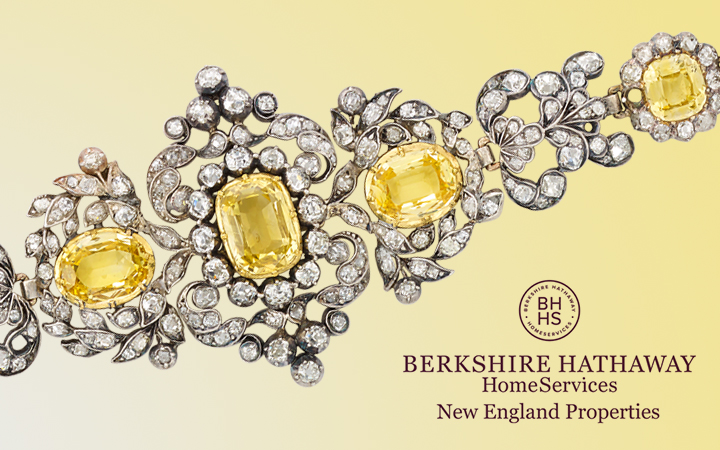 Antique DIamond and Yellow Sapphire Bracelet