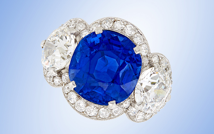 Cartier Burma Sapphire and Diamond Ring