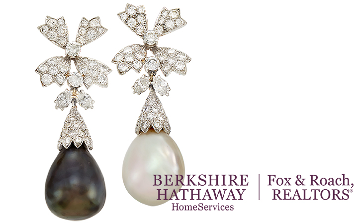 South Sea Pearl and Diamond Pendant Earclips