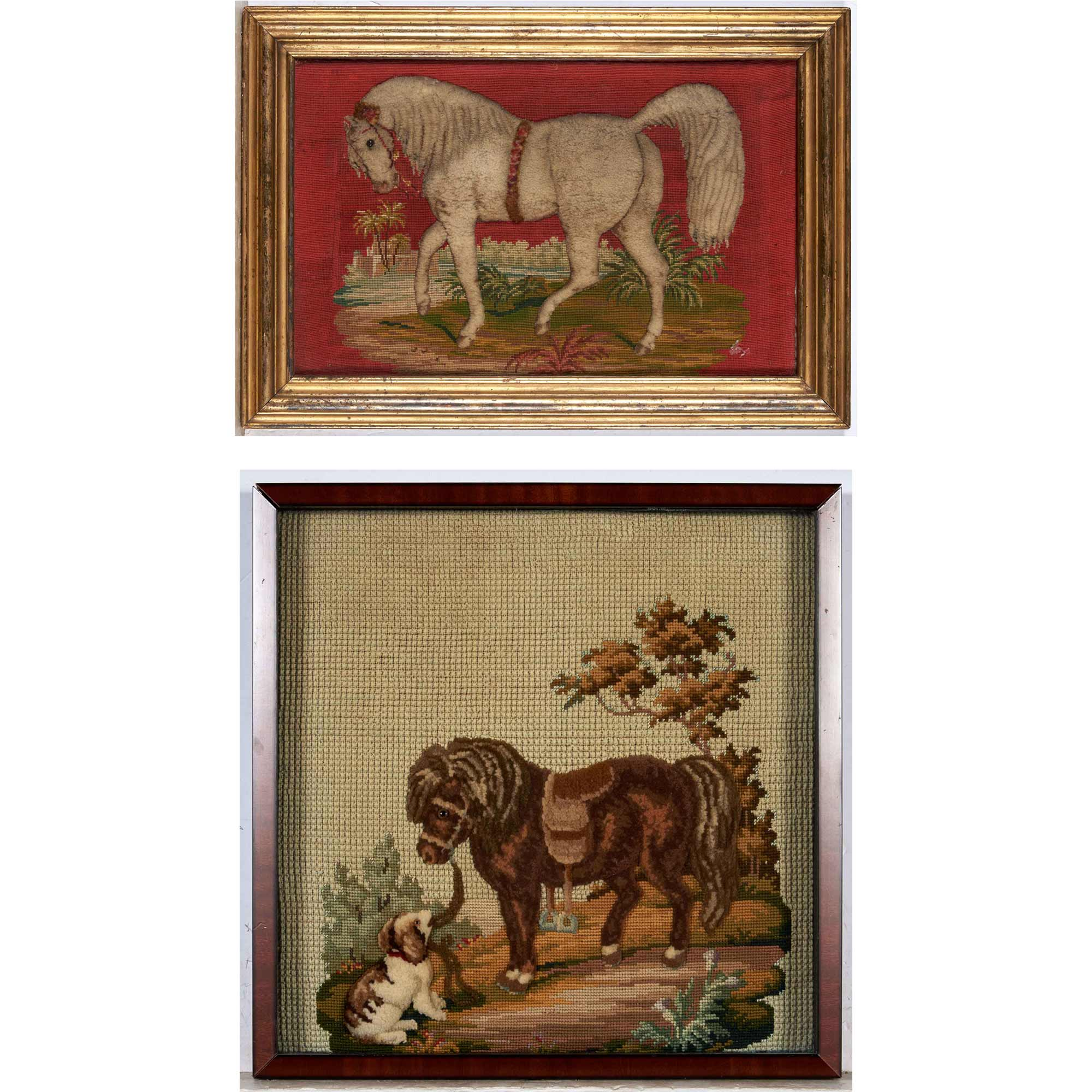 Lot image - Two Framed Needlework Pictures