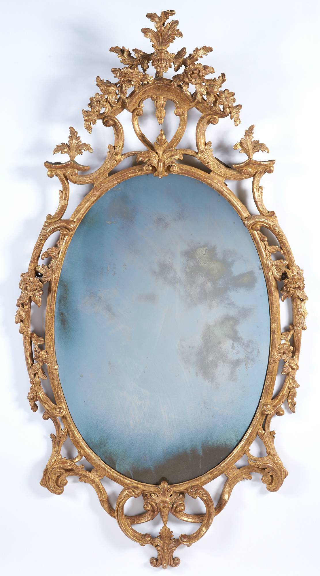 Lot image - George III Giltwood Mirror