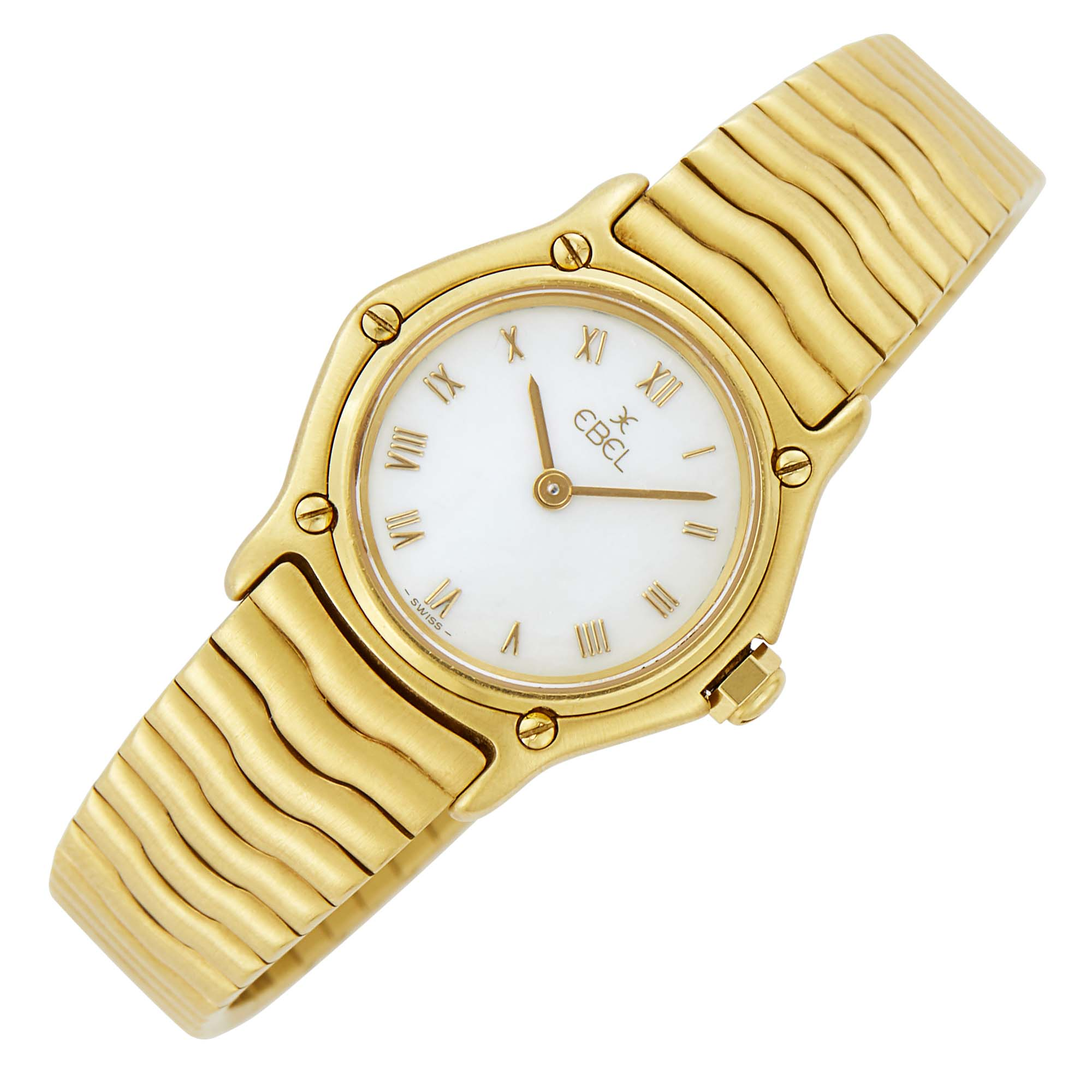 Lot image - Ebel Gold Wave Wristwatch