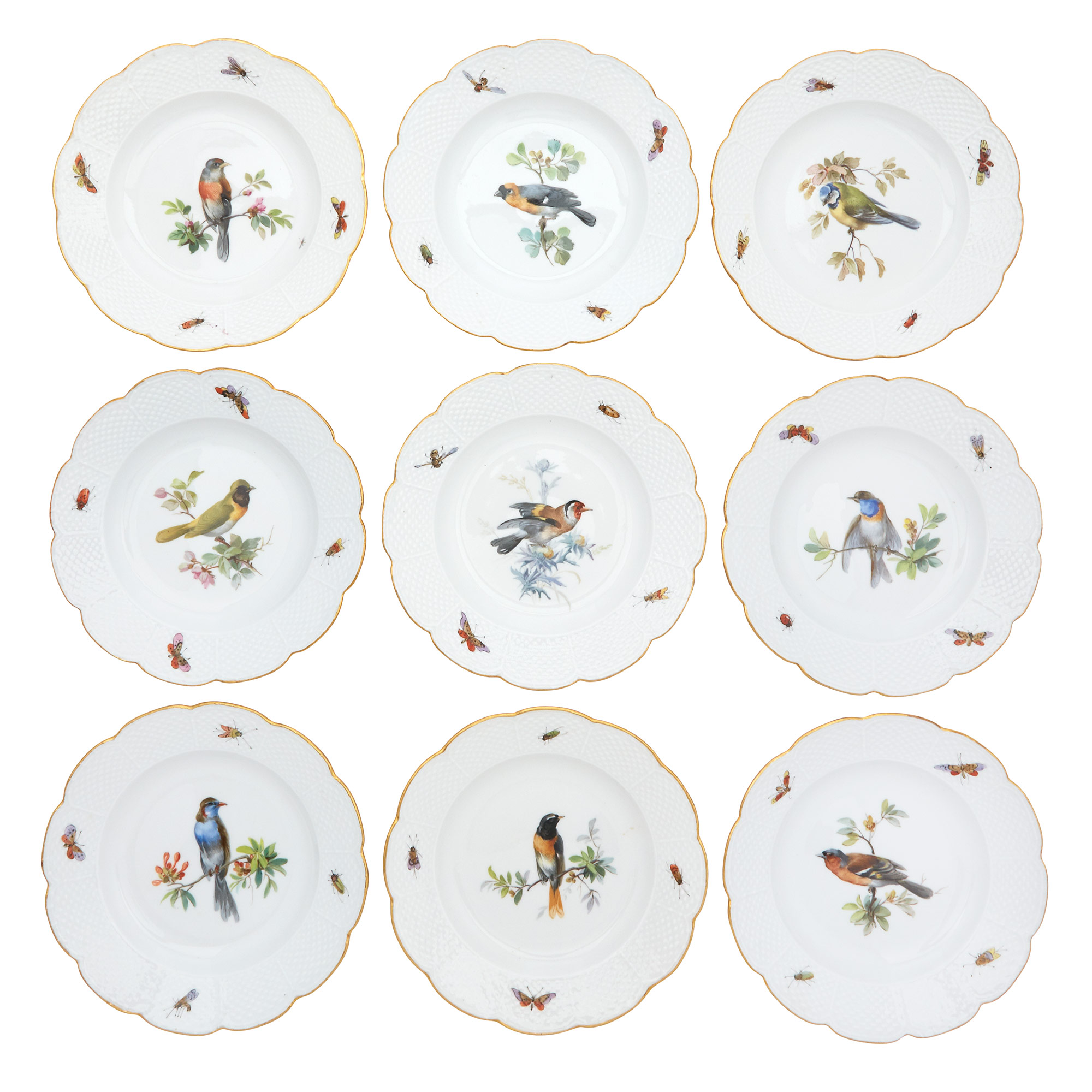 Lot image - Meissen Porcelain Ornithological Dinner Service