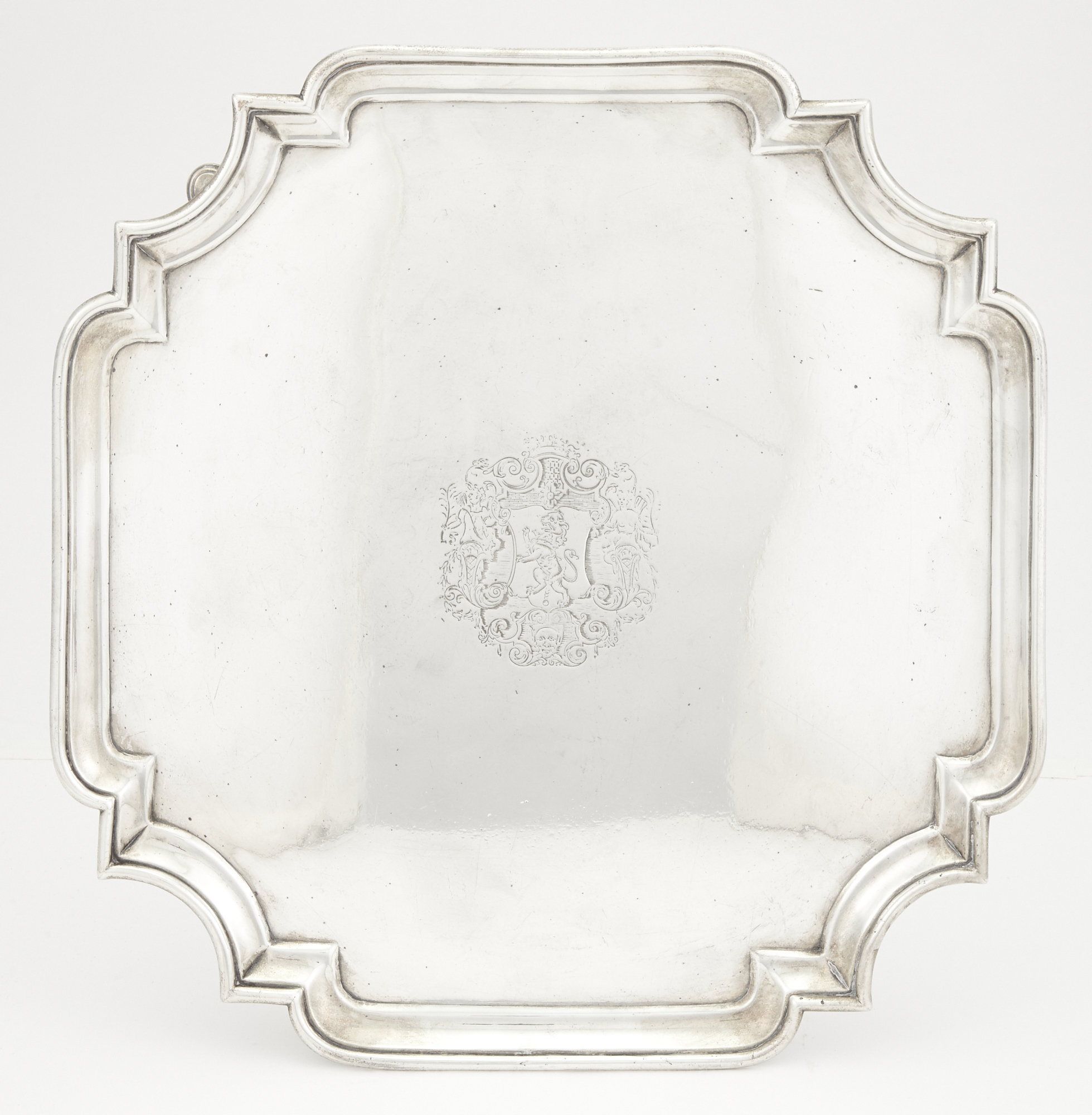 Lot image - George II Sterling Silver Salver