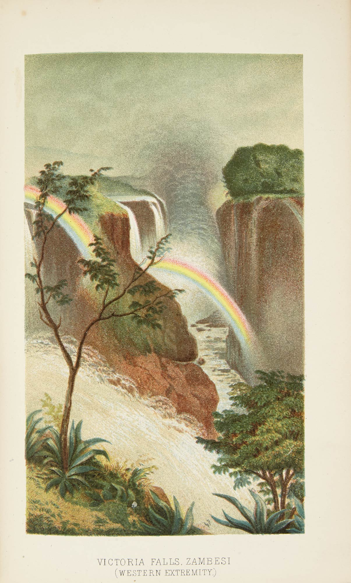 Lot image - OATES, FRANK  Matabele Land and the Victoria Falls. London: 1881. First edition. Original cloth.