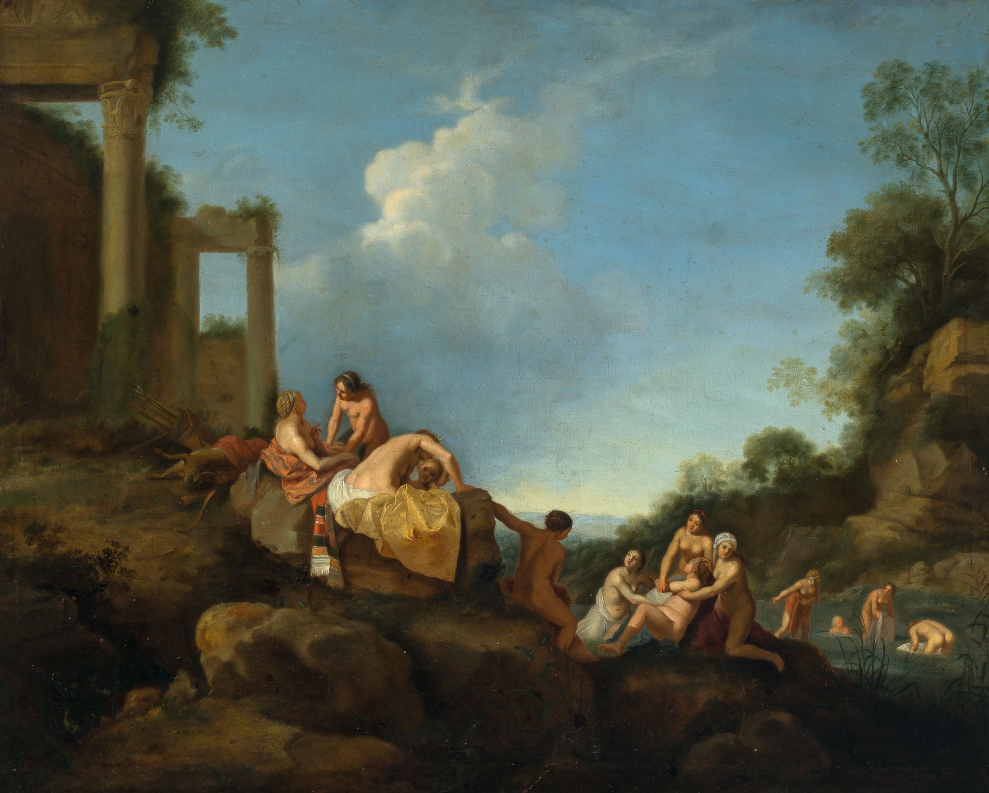 Lot image - School of Cornelis van Poelenburgh