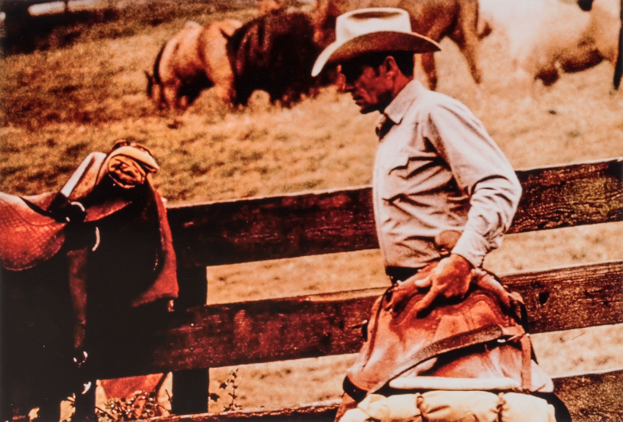 Lot image - PRINCE, RICHARD (b. 1949)  Untitled [Cowboy with saddle], from the Cowboys and Girlfriends series.