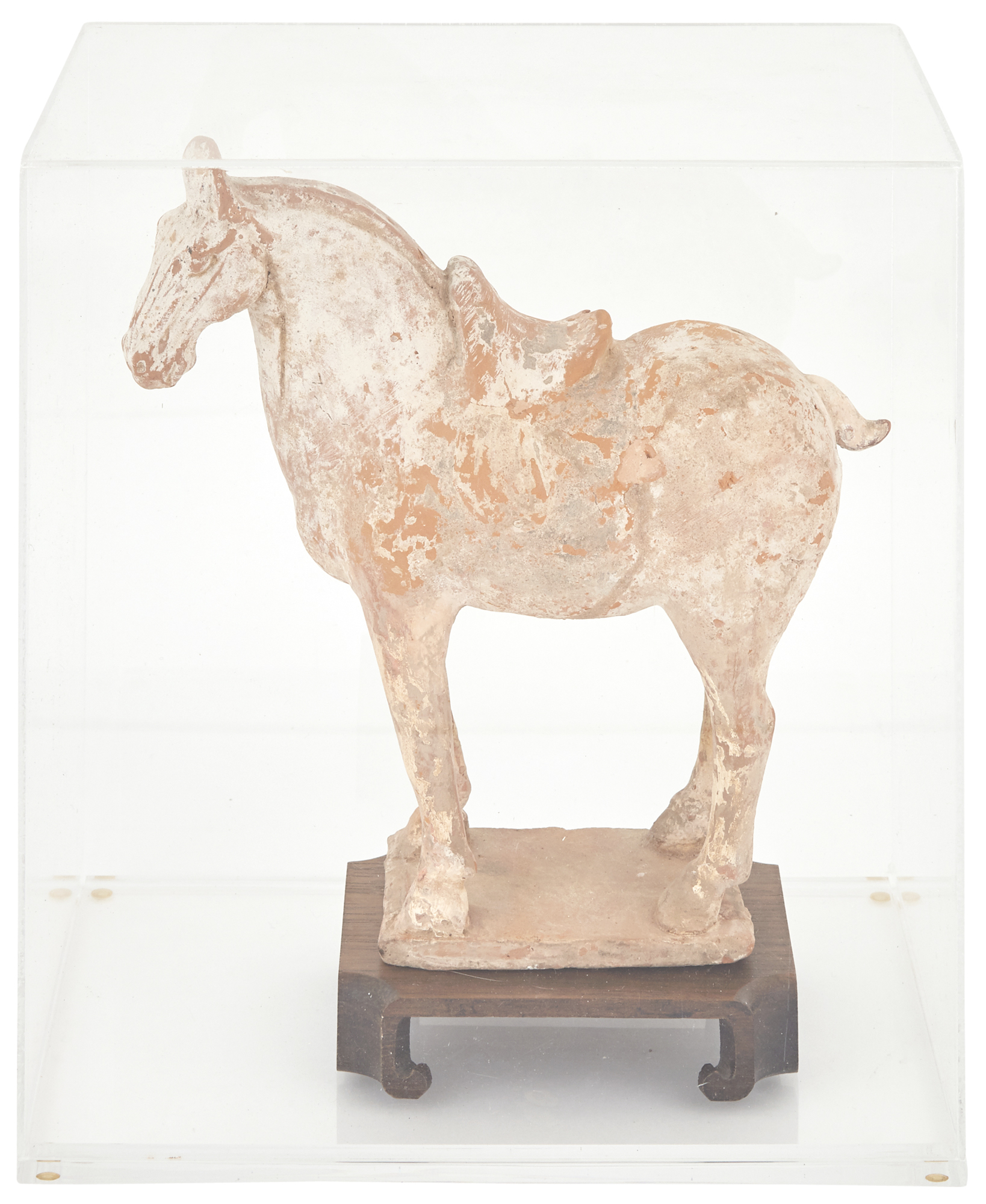 Lot image - Chinese Pottery Figure of a Standing Horse
