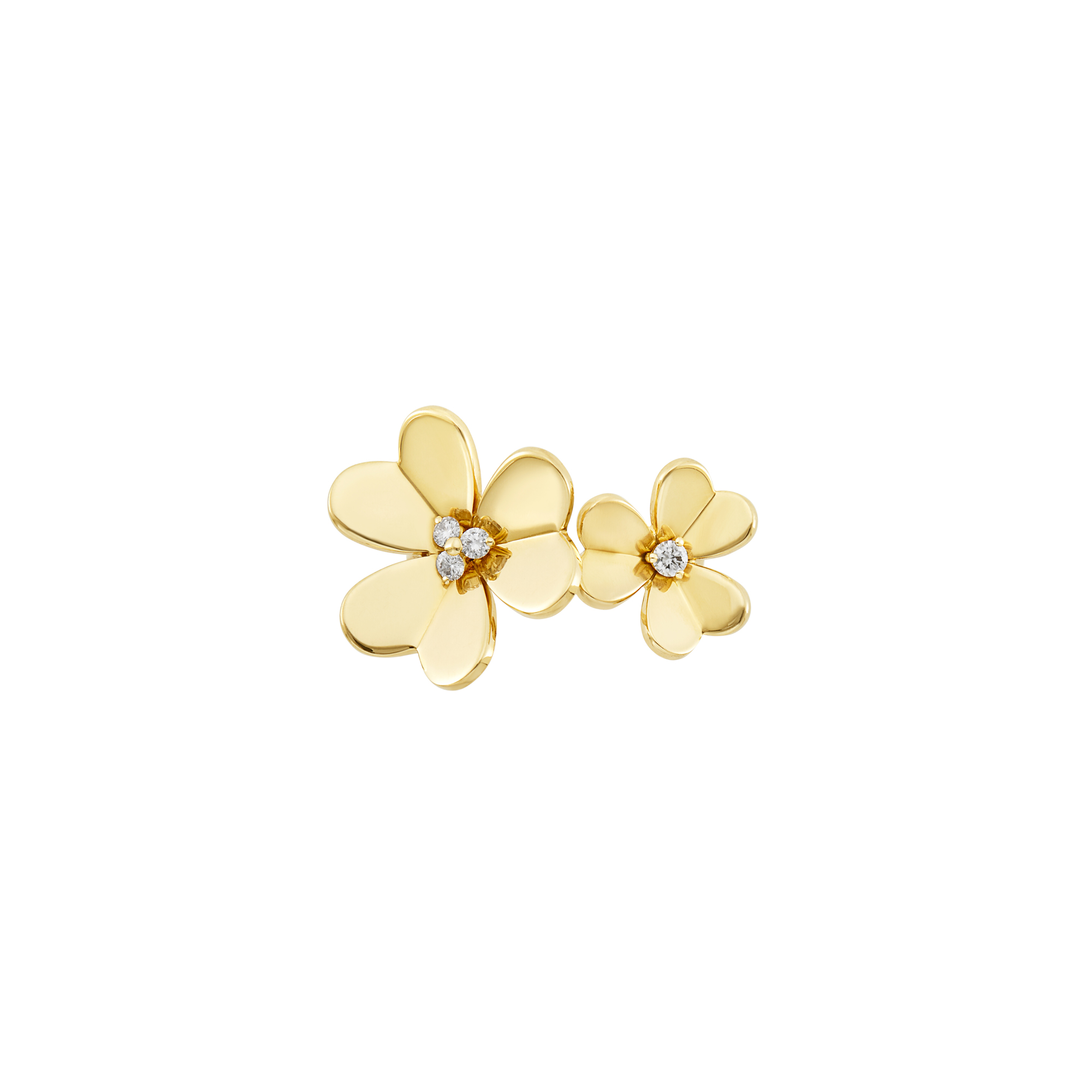 Lot image - Gold and Diamond Double Flower Frivole Ring, Van Cleef & Arpels
