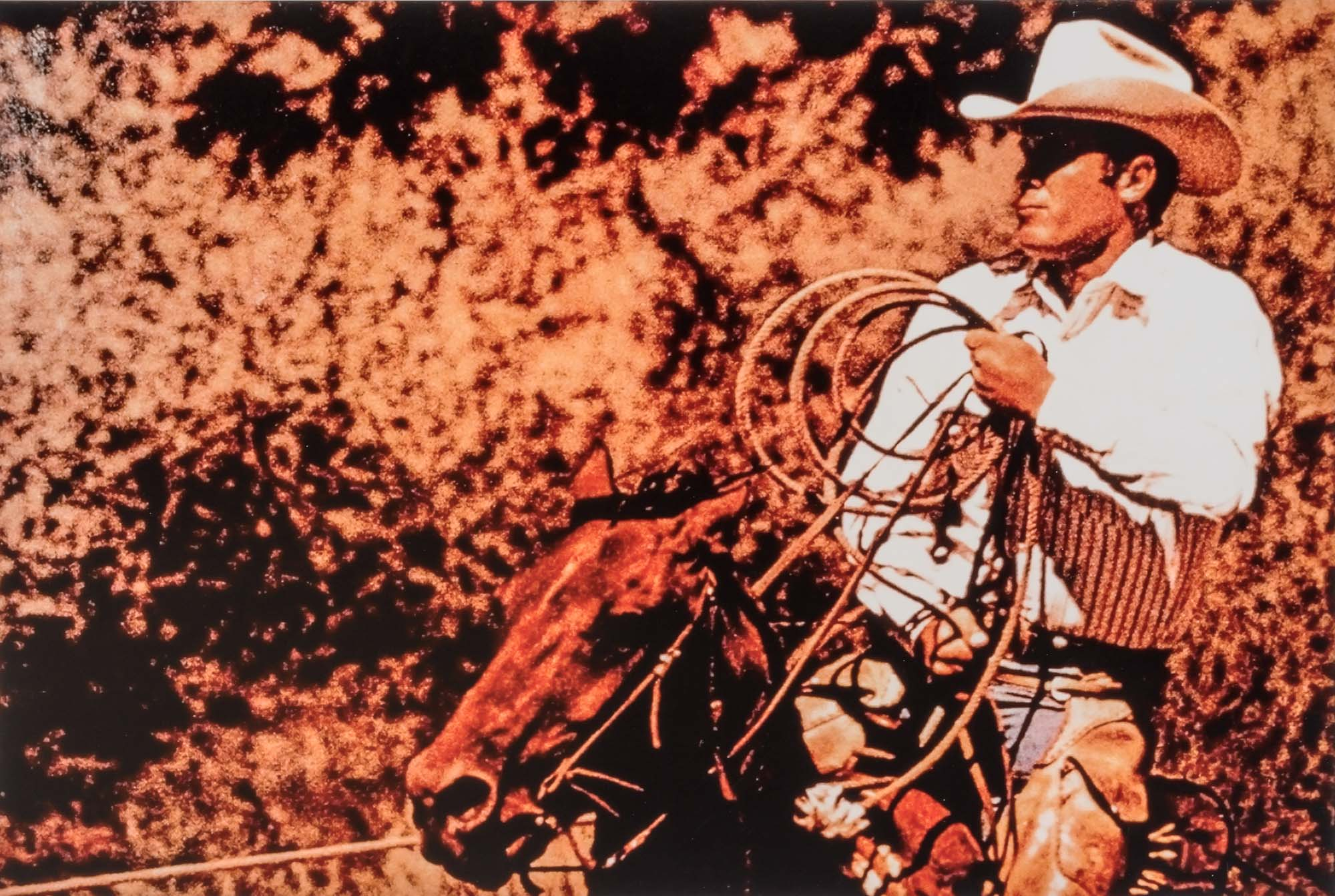 Lot image - PRINCE, RICHARD (b. 1949)  Untitled [Cowboy with lasso], from the Cowboys and Girlfriends series.