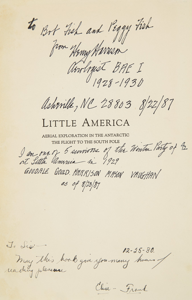 Lot image - BYRD, RICHARD EVELYN  Little America: Aerial Exploration in the Antarctic. The Flight to the South Pole.