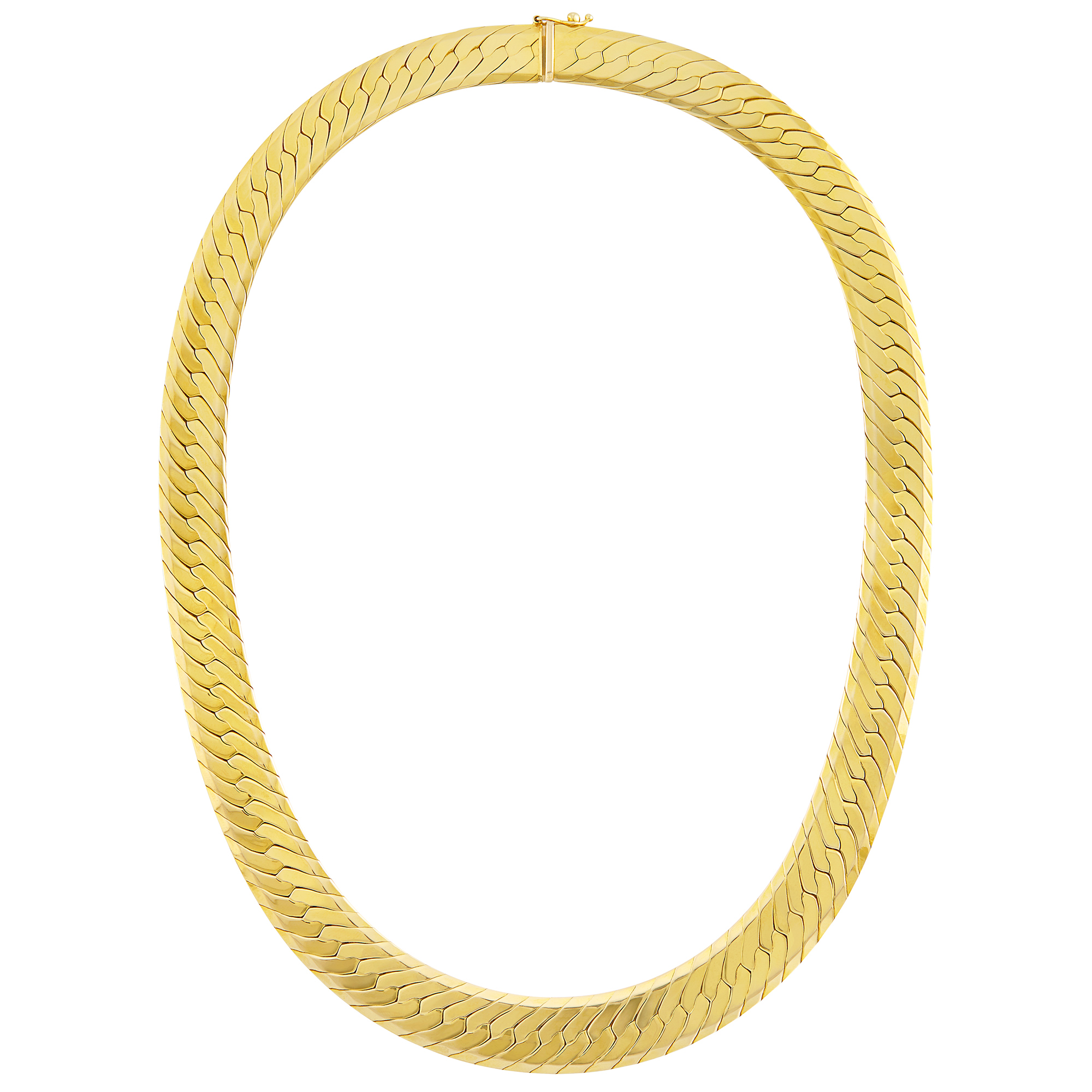 Lot image - Gold Herringbone Link Necklace