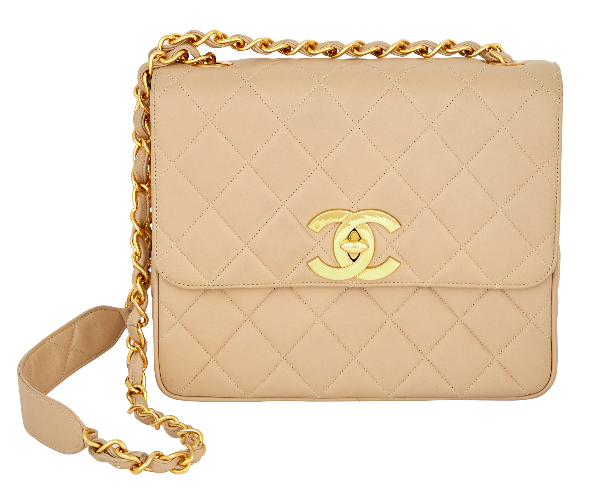 Lot image - Chanel Oversized CC Square Quilted Leather Flap Bag