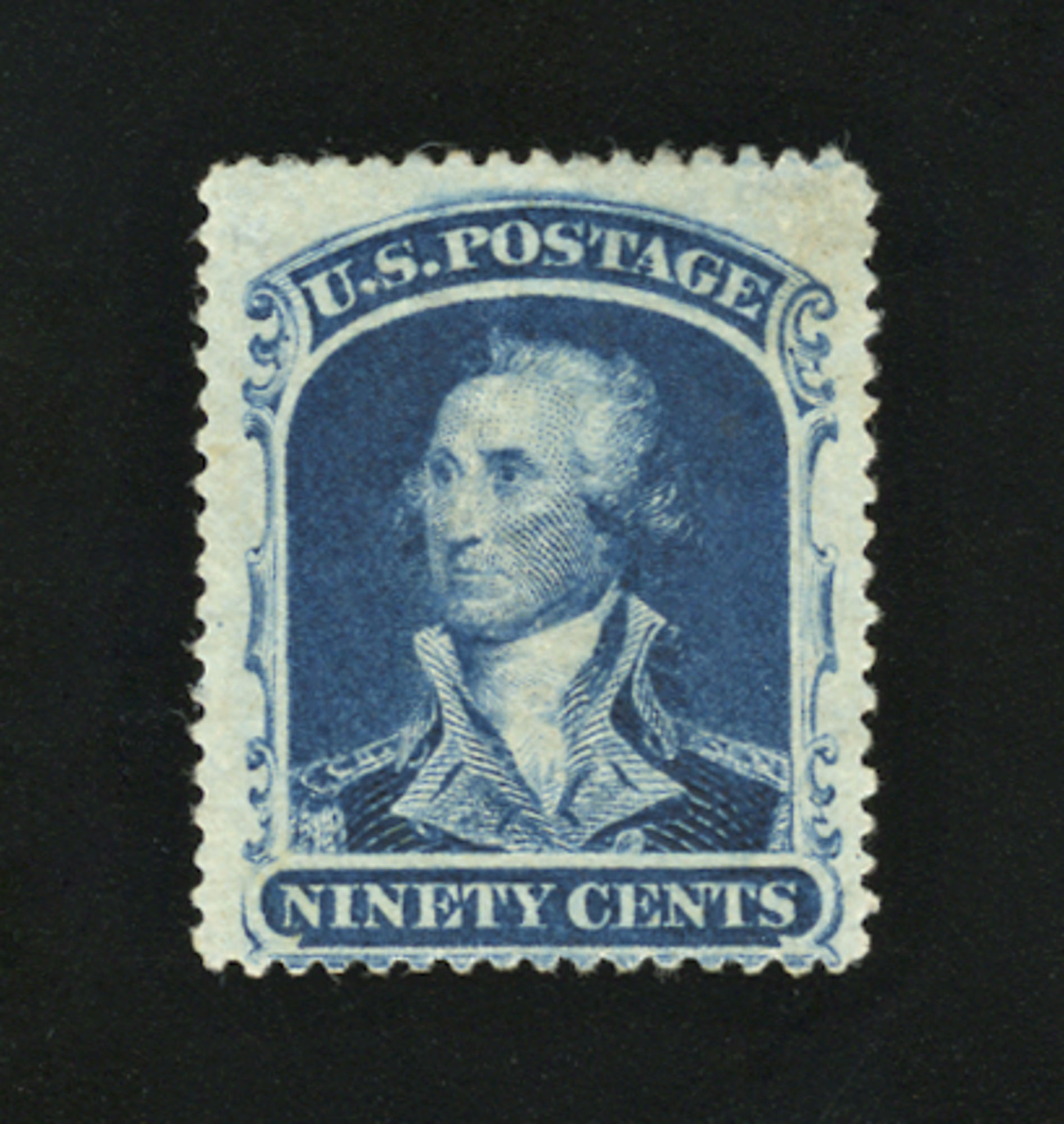 Lot image - United States 1860 90 Cents Blue, Scott 39