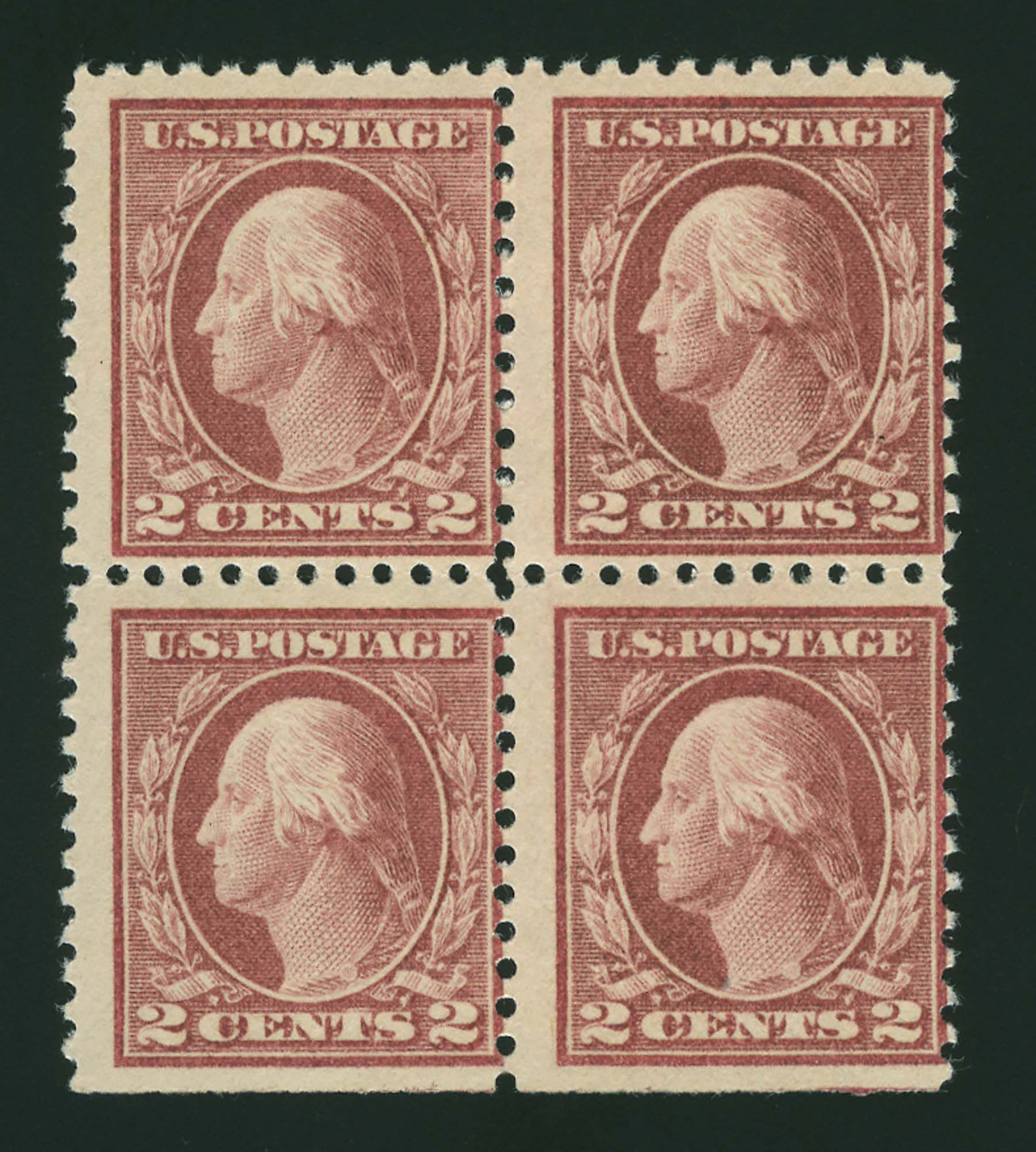 Lot image - United States 1917 2 Cents Lake Scott 499h