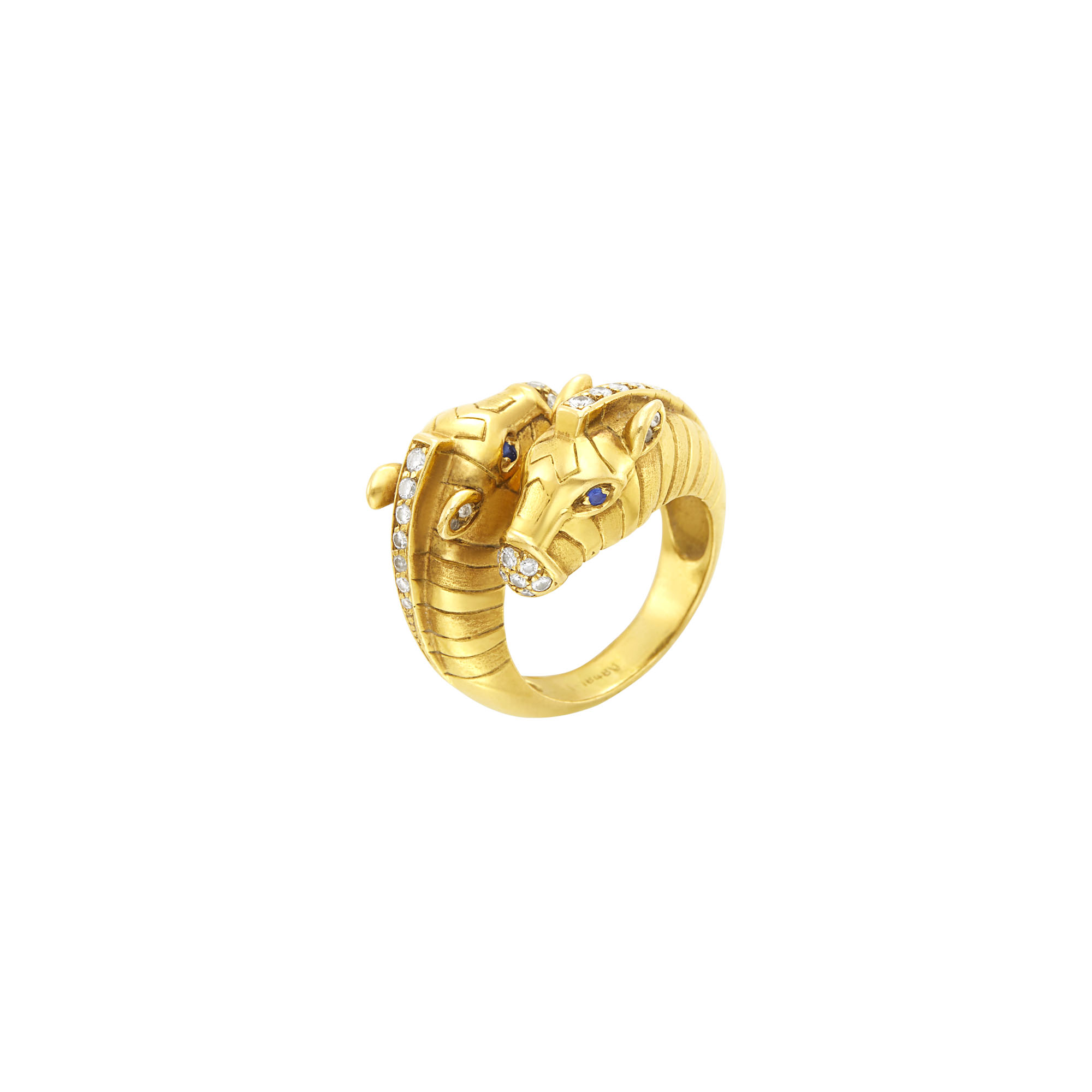 Lot image - Mauboussin Paris Gold and Diamond Zebra Bypass Ring