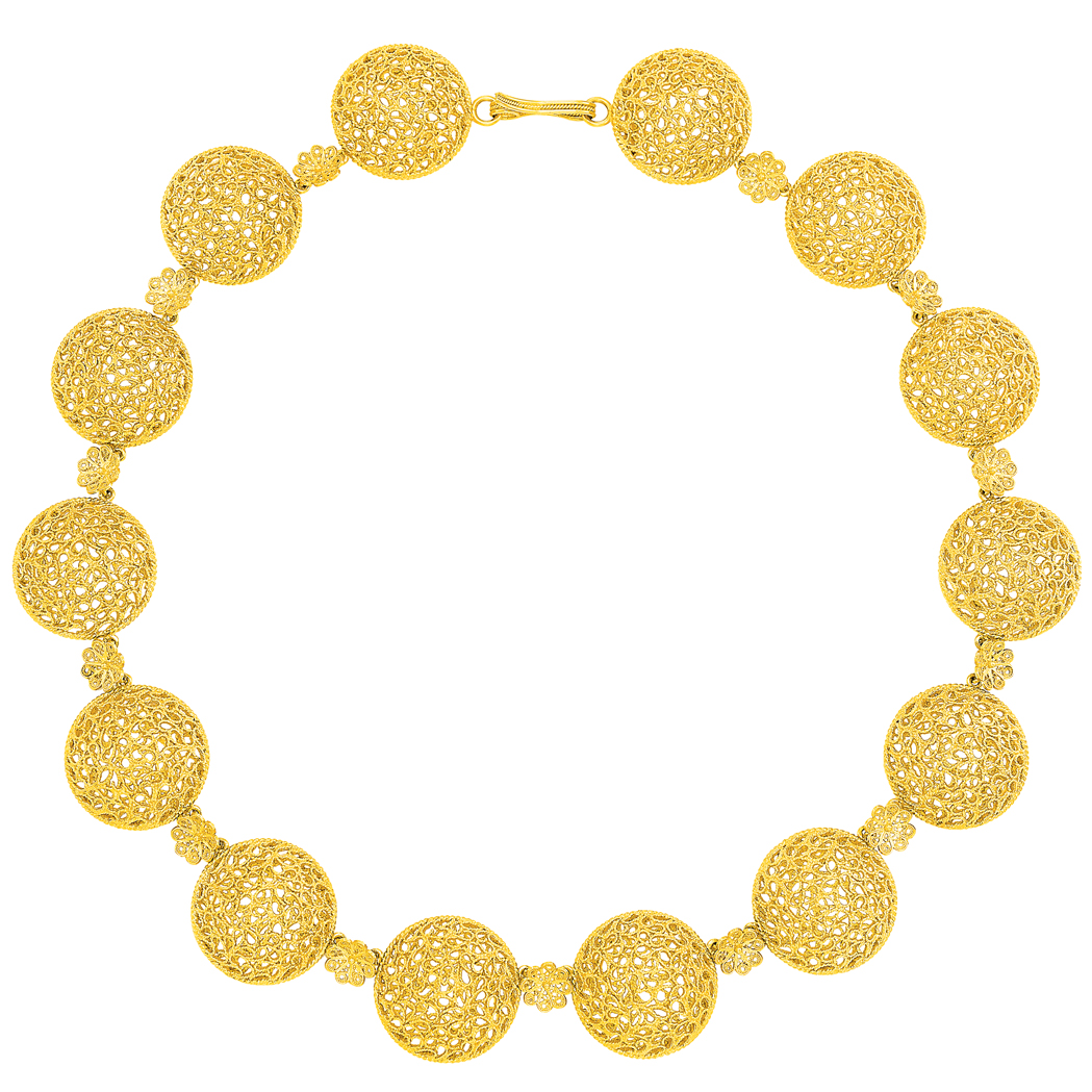 Lot image - Gold 'Filidori' Necklace, Buccellati