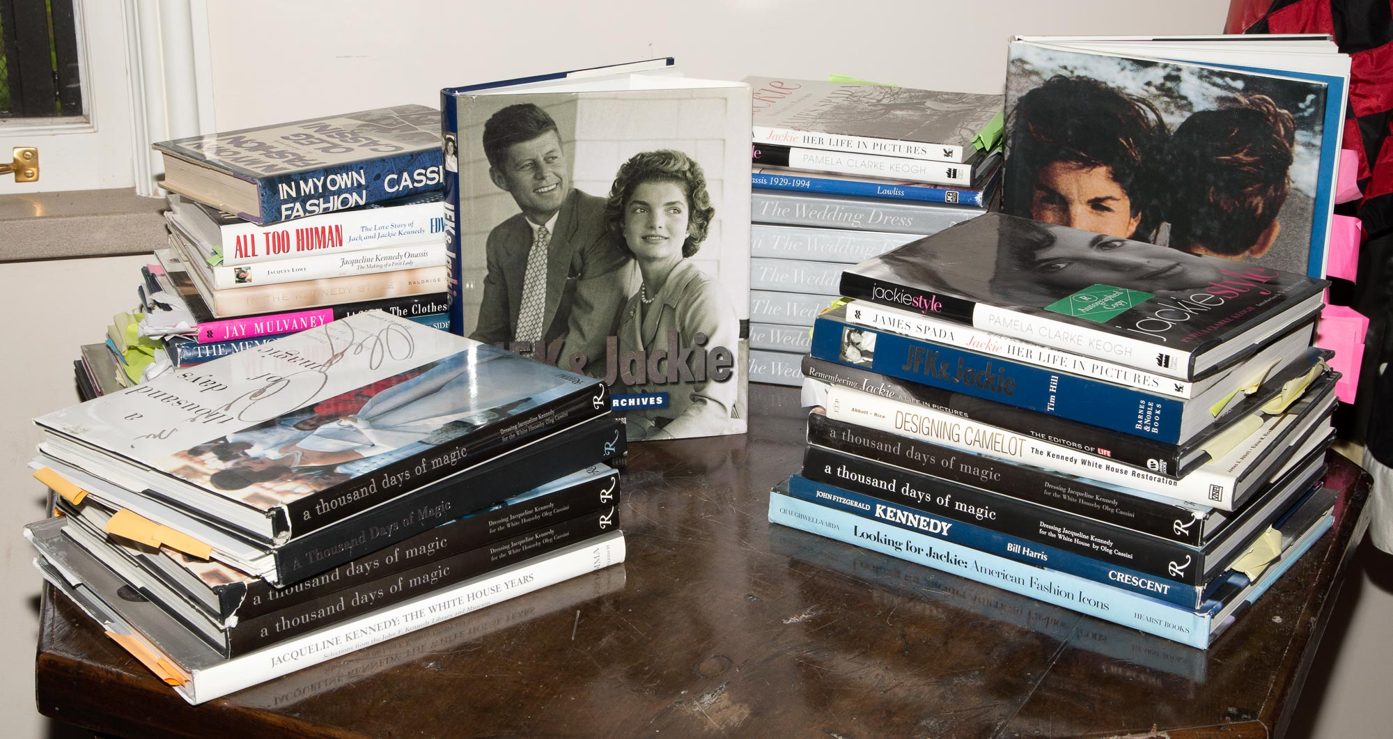 Lot image - [BOOKS-THE KENNEDYS]  Approximately thirty five volumes related to Oleg Cassini and the Kennedys.