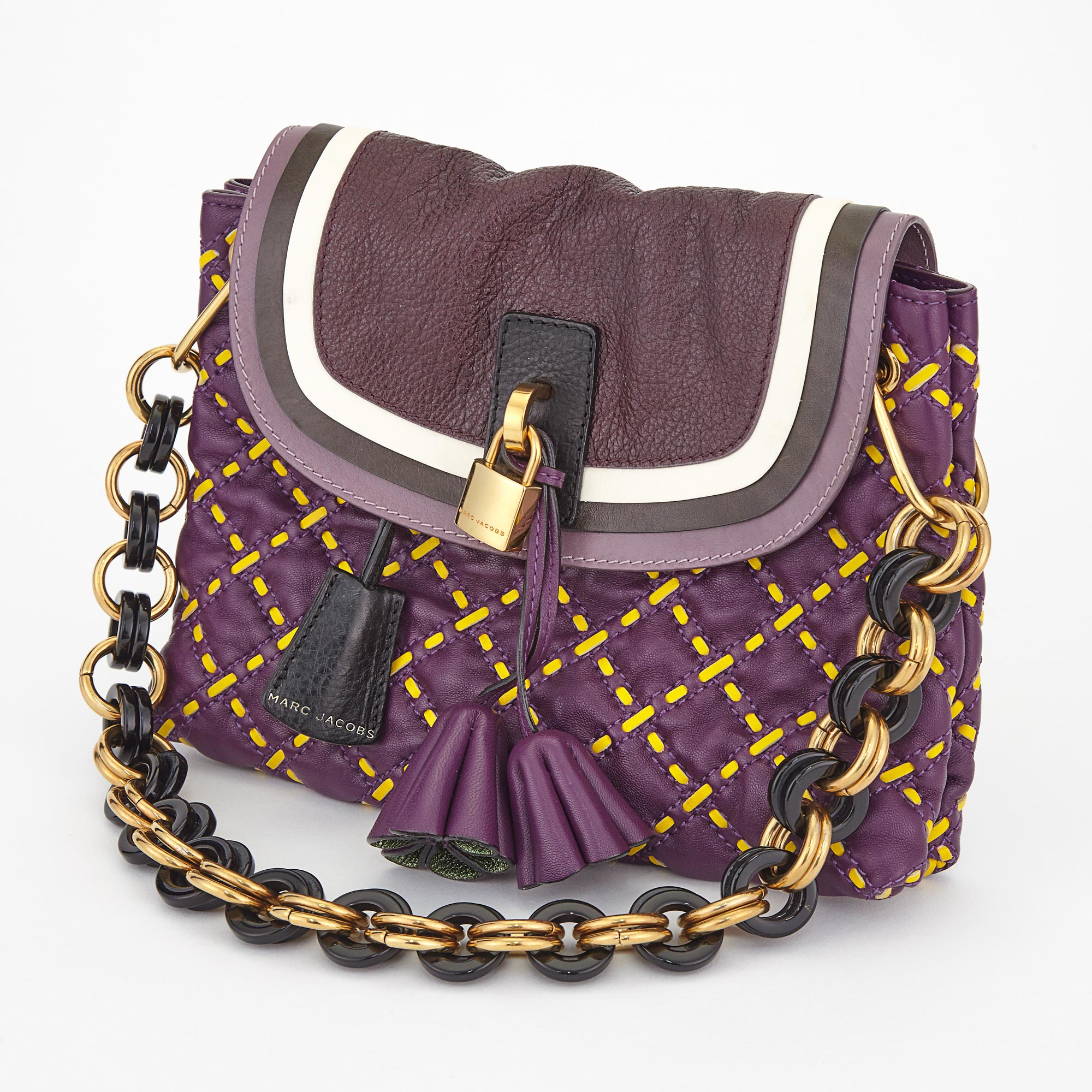 Lot image - Multicolored Leather Maria Handbag, Marc Jacobs