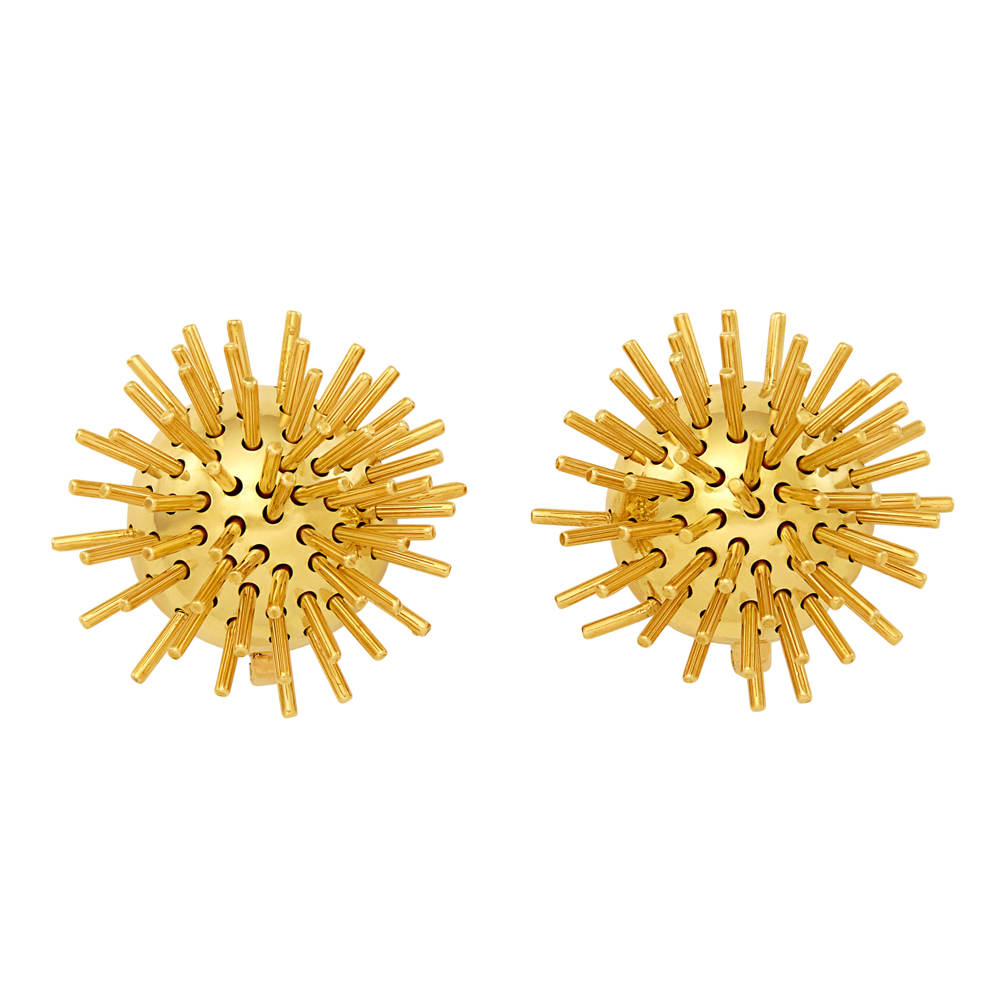 Lot image - Pair of Gold Kinetic Earclips, Pol Bury, France