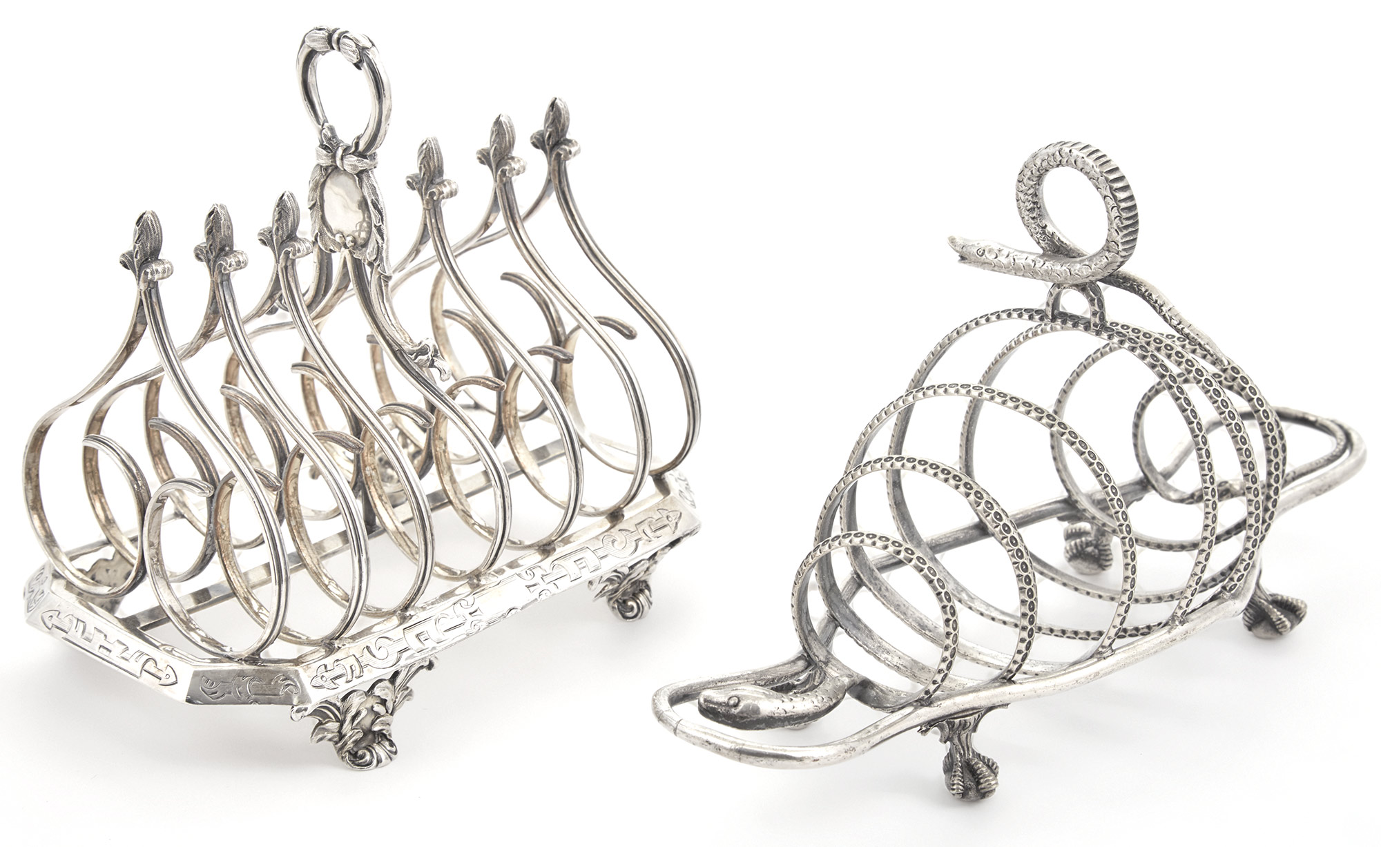 Lot image - William IV Sterling Silver Toast Rack