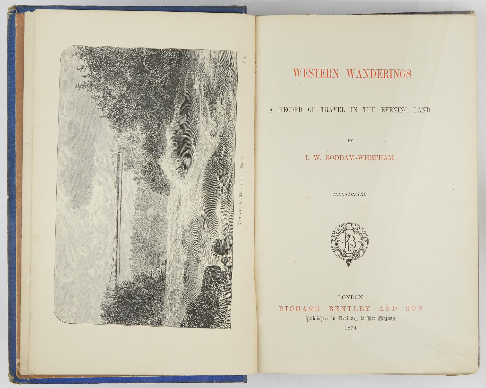 Lot image - [CALIFORNIA]  BODDAM-WHETHAM, JOHN W. Western Wanderings: A Record of Travel in the Evening Land.