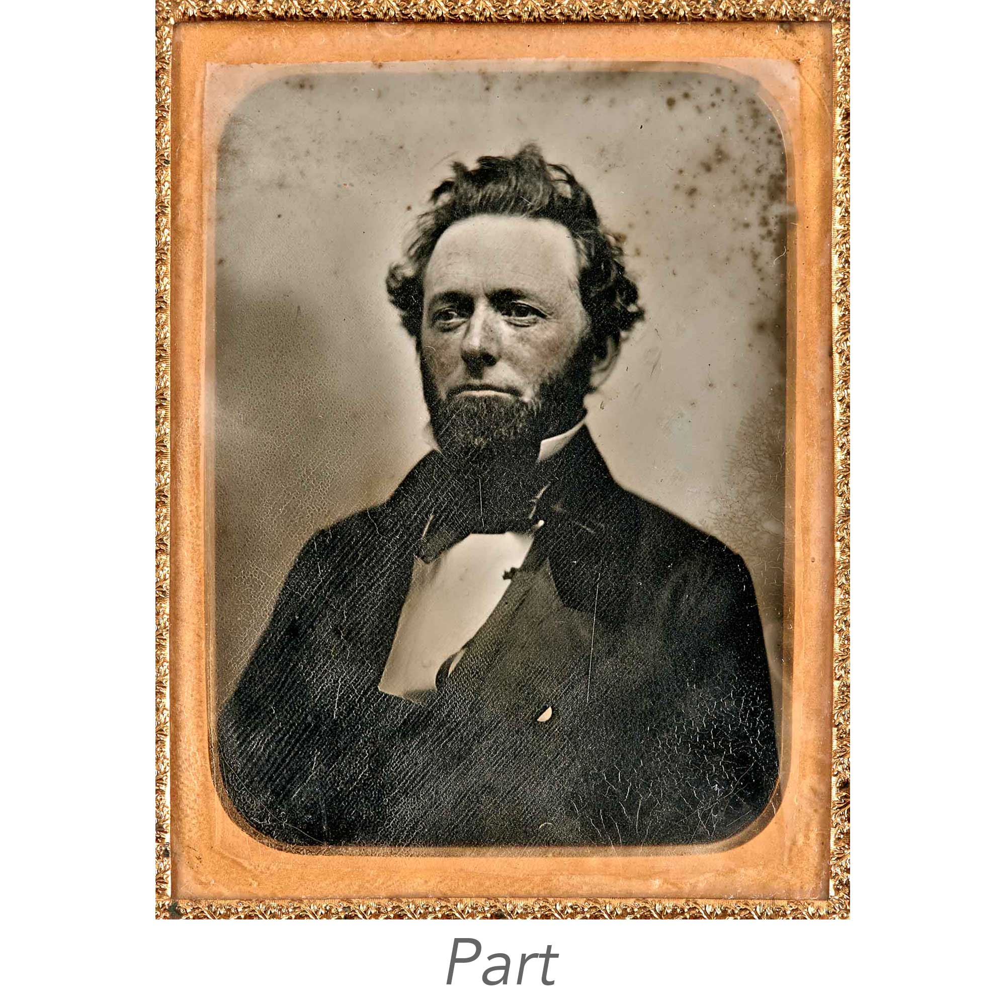 Lot image - [DAGUERREOTYPES-PORTRAITS]  Group of six quarter-plate portrait daguerreotypes.