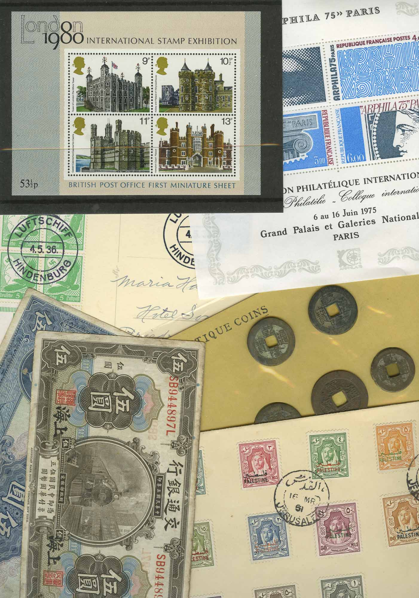 Lot image - World Wide Miscellaneous Stamp and Bank Note Lot