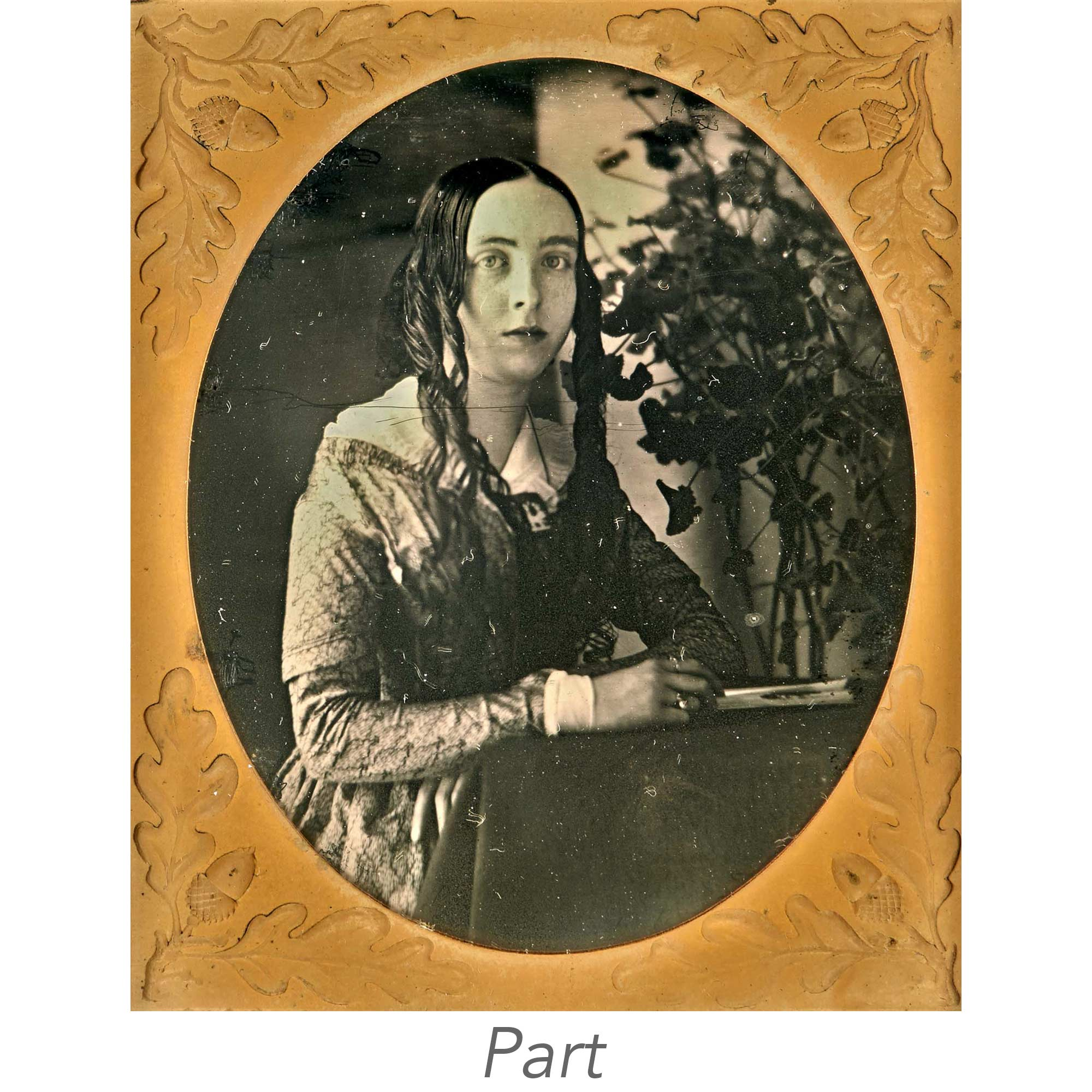 Lot image - [DAGUERREOTYPES-PORTRAITS]  Group of six unusual or distinguished portrait images.