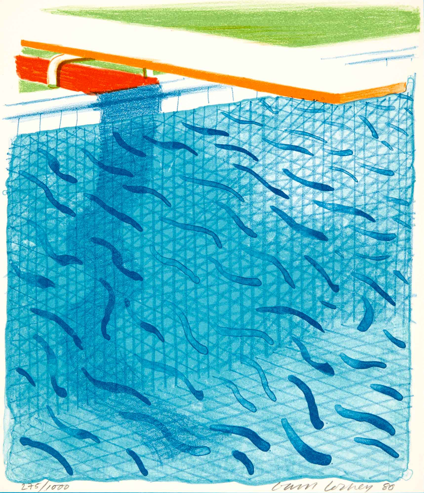 Lot image - HOCKNEY, DAVID  Paper Pools.