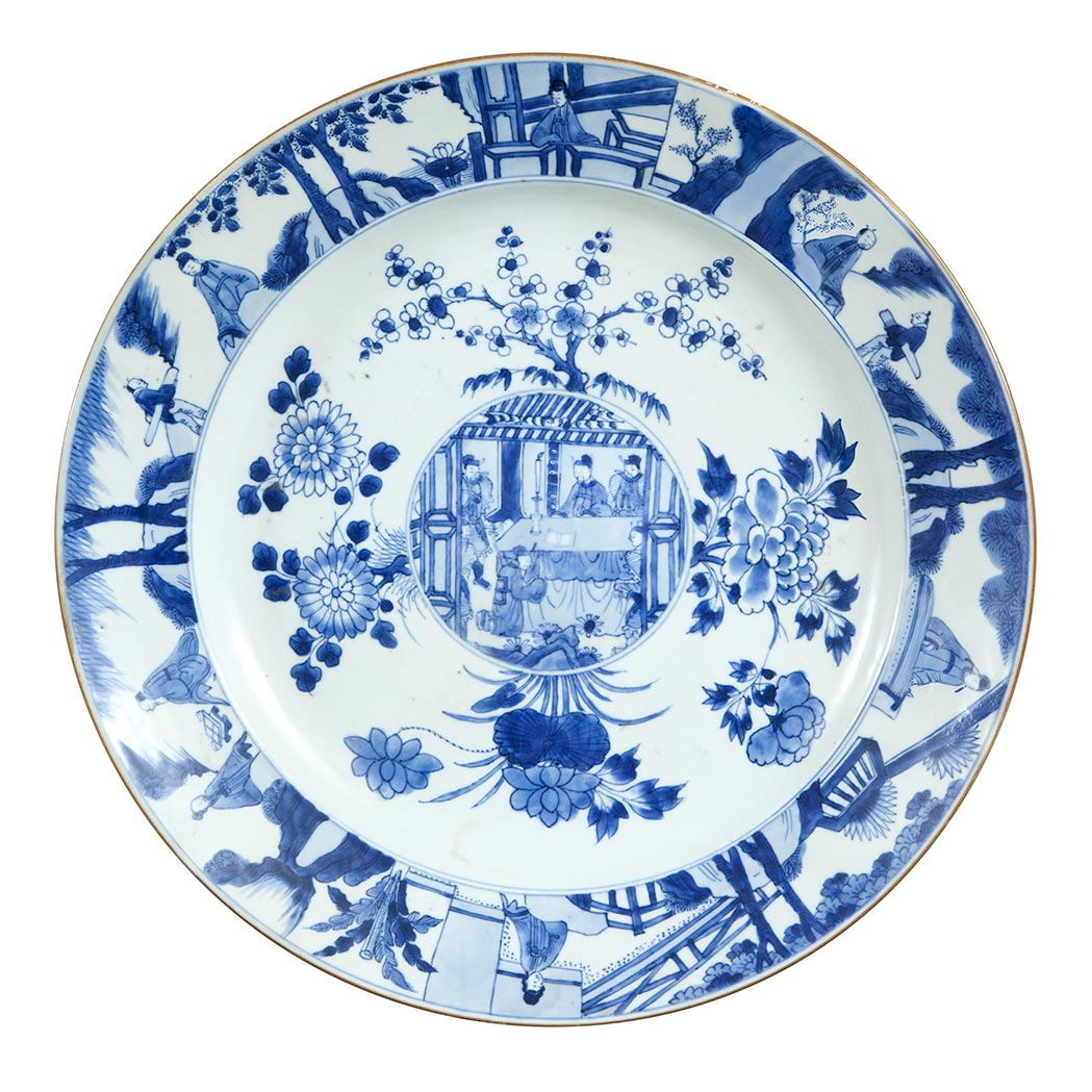 Lot image - Chinese Blue and White Porcelain Charger