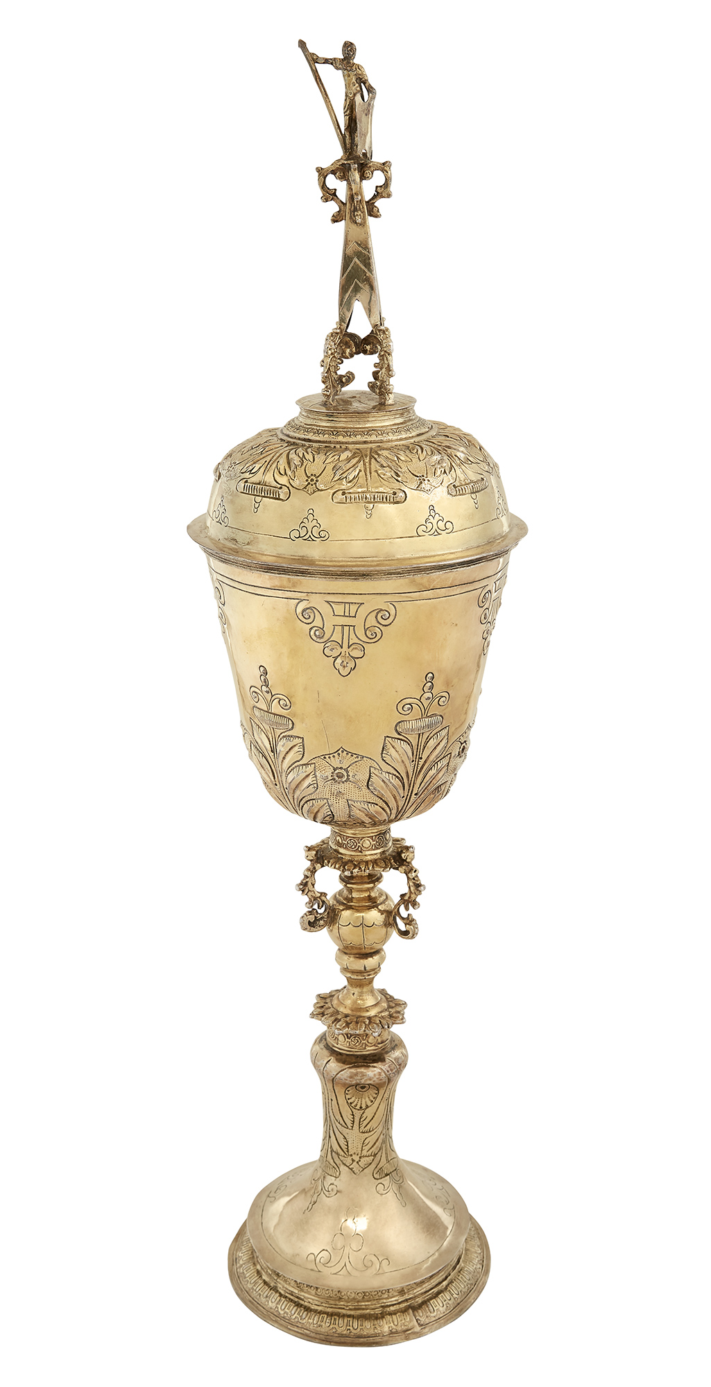 Lot image - James I Sterling Silver-Gilt Steeple Cup and Cover