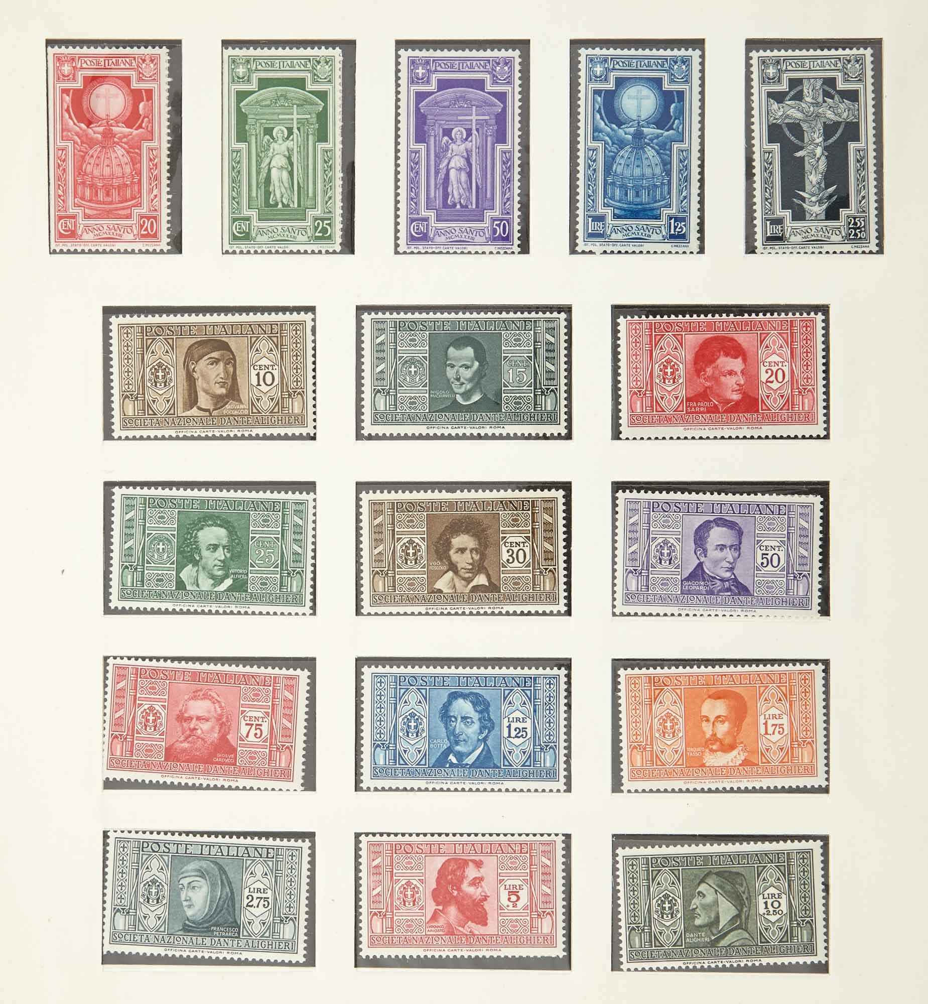 Lot image - Italy and Vatican Postage Stamp Collections