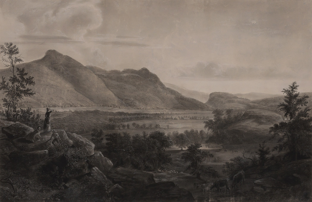 Lot image - [DURAND, ASHER B., after]  Early copy of Dover Plains, Dutchess County, New York, 1848.