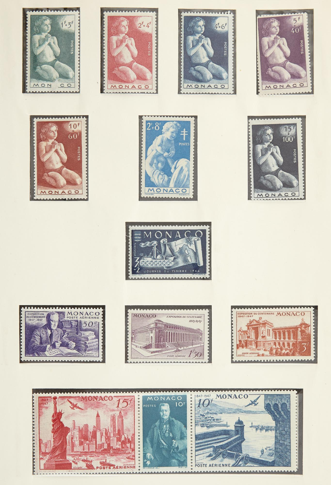 Lot image - France, Monaco and Swiss Stamp Collections