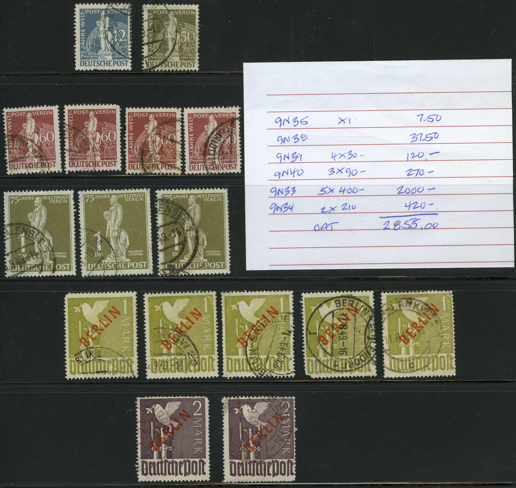 Lot image - Germany Berlin Used Issues