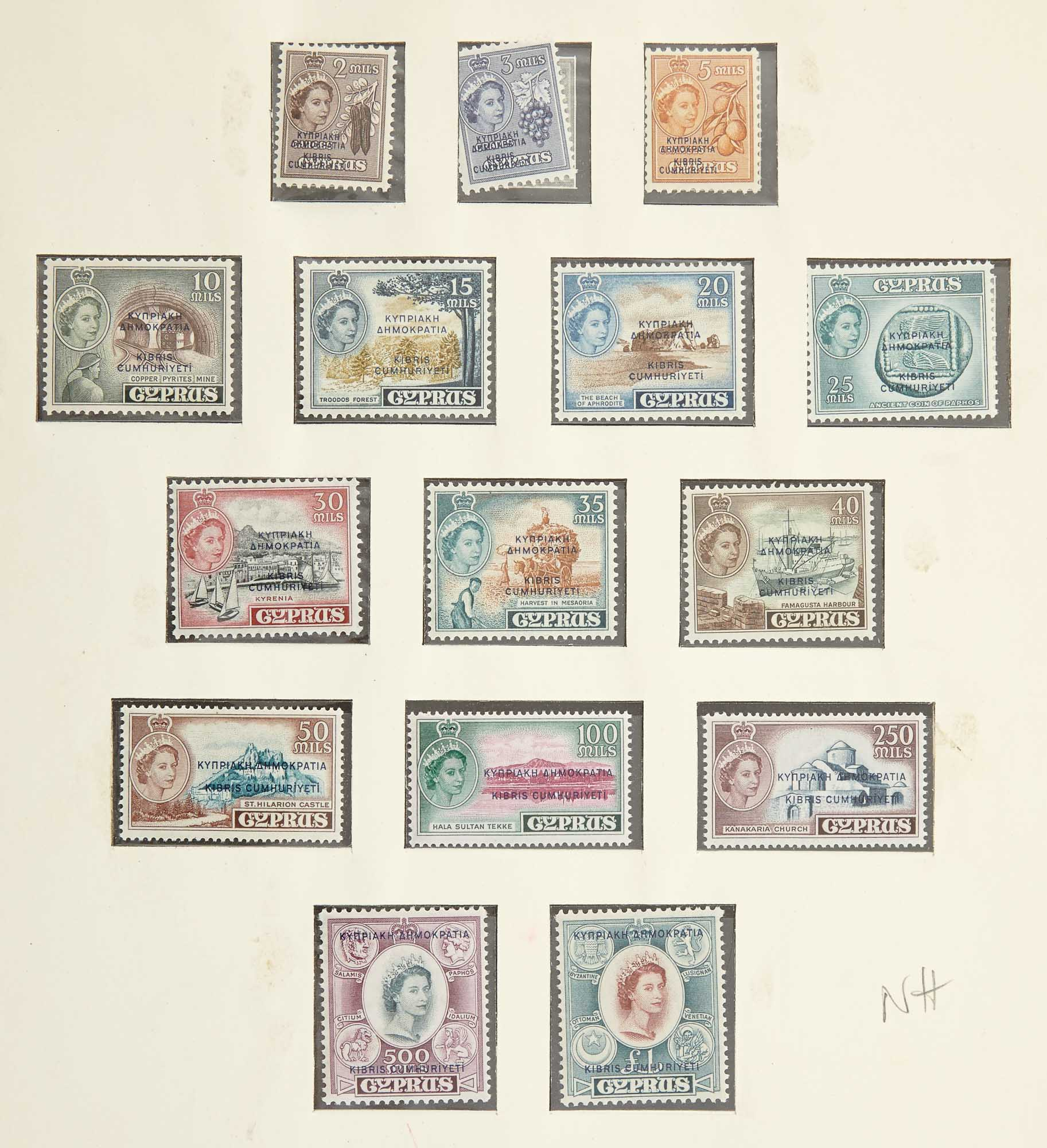 Lot image - Cyprus and Malta Stamp Collections