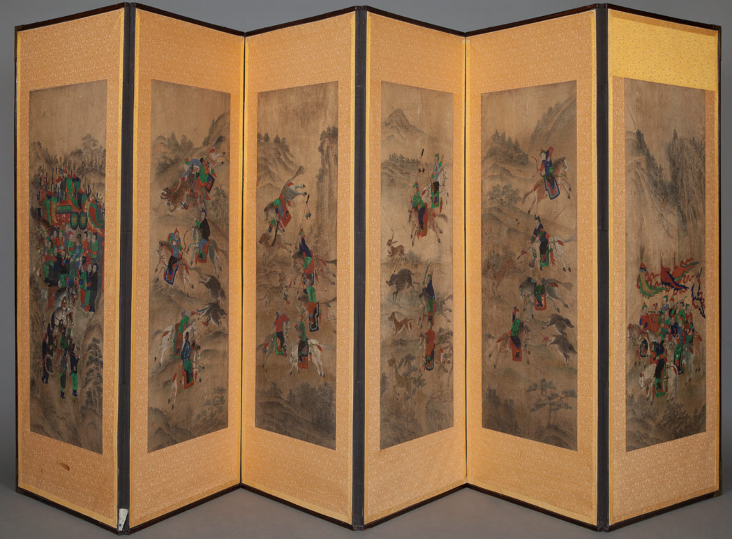 Lot image - Korean Six-Panel Screen