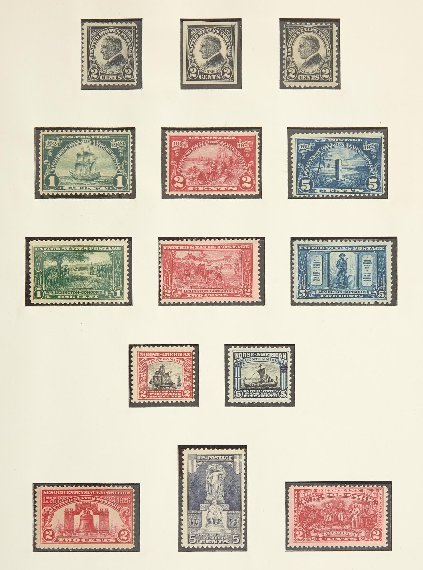 Lot image - United States and United Nations Postage Stamp Collections