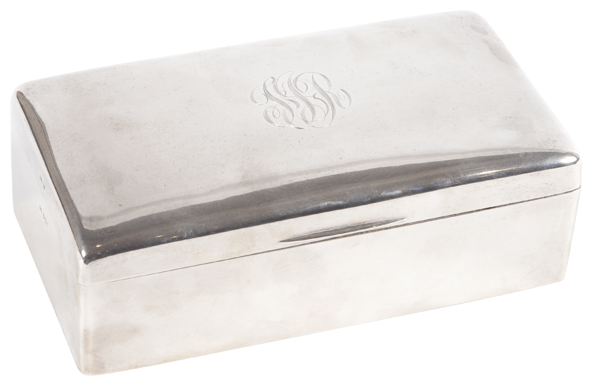 Lot image - George V Sterling Silver Table Cigarette Box
