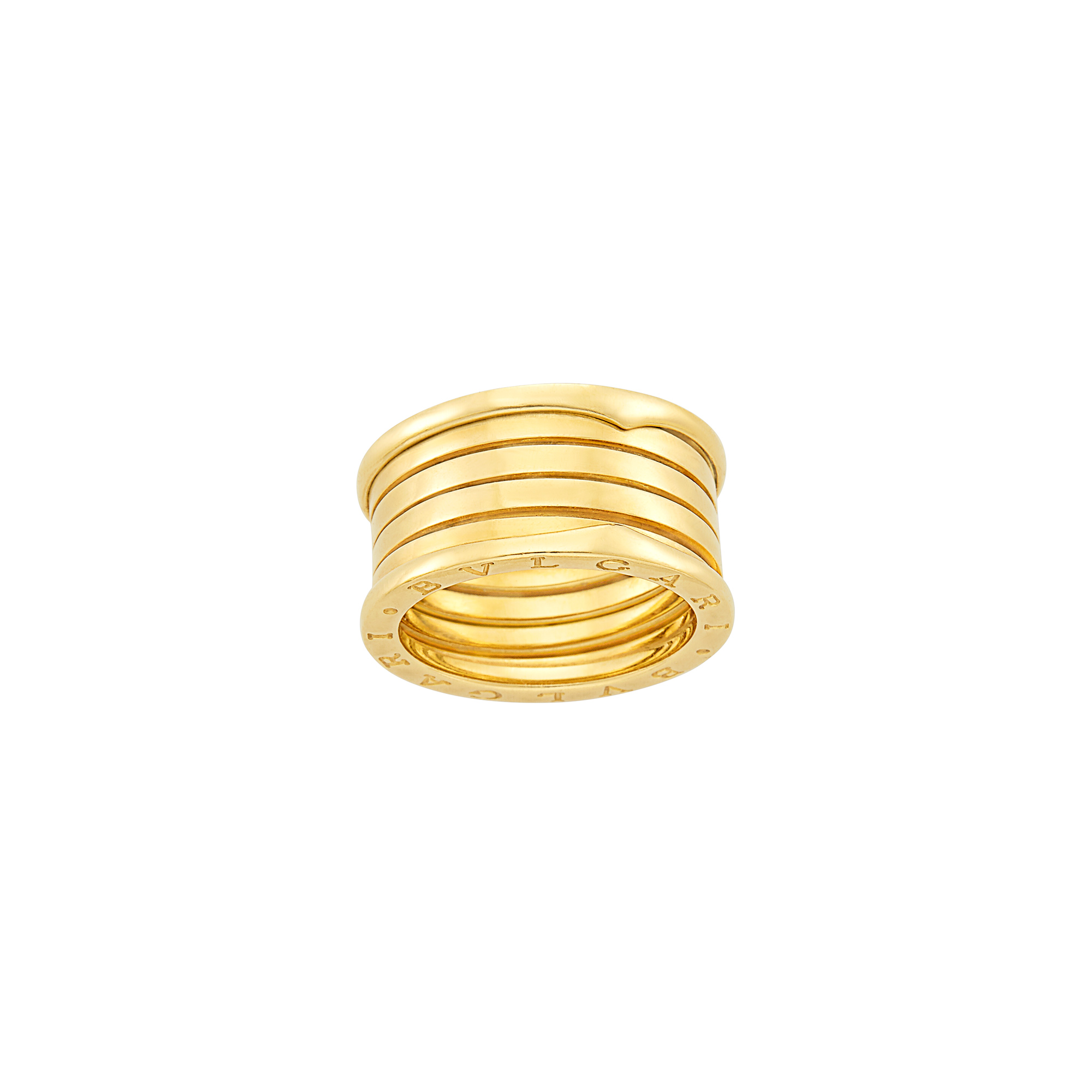 Lot image - Wide Gold B.Zero1 Five Band Ring, Bulgari