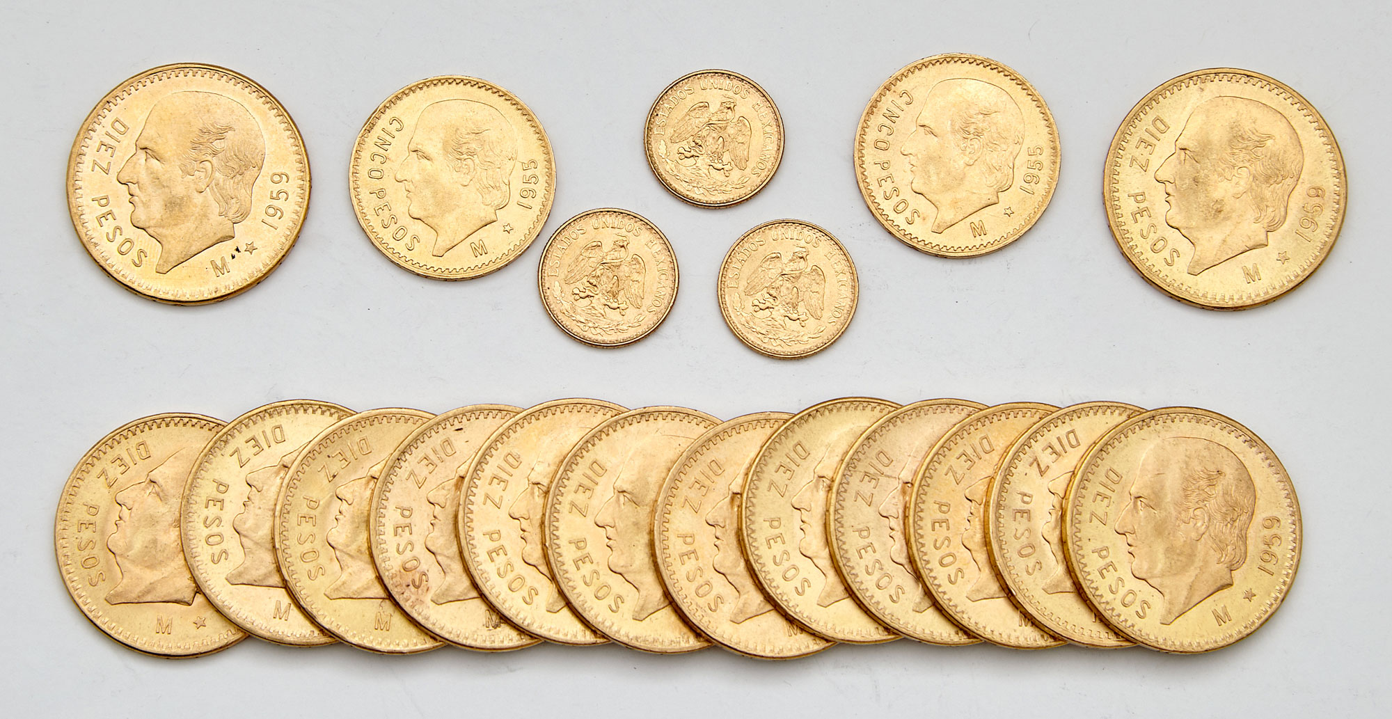 Lot image - Mexico Gold Coin Group