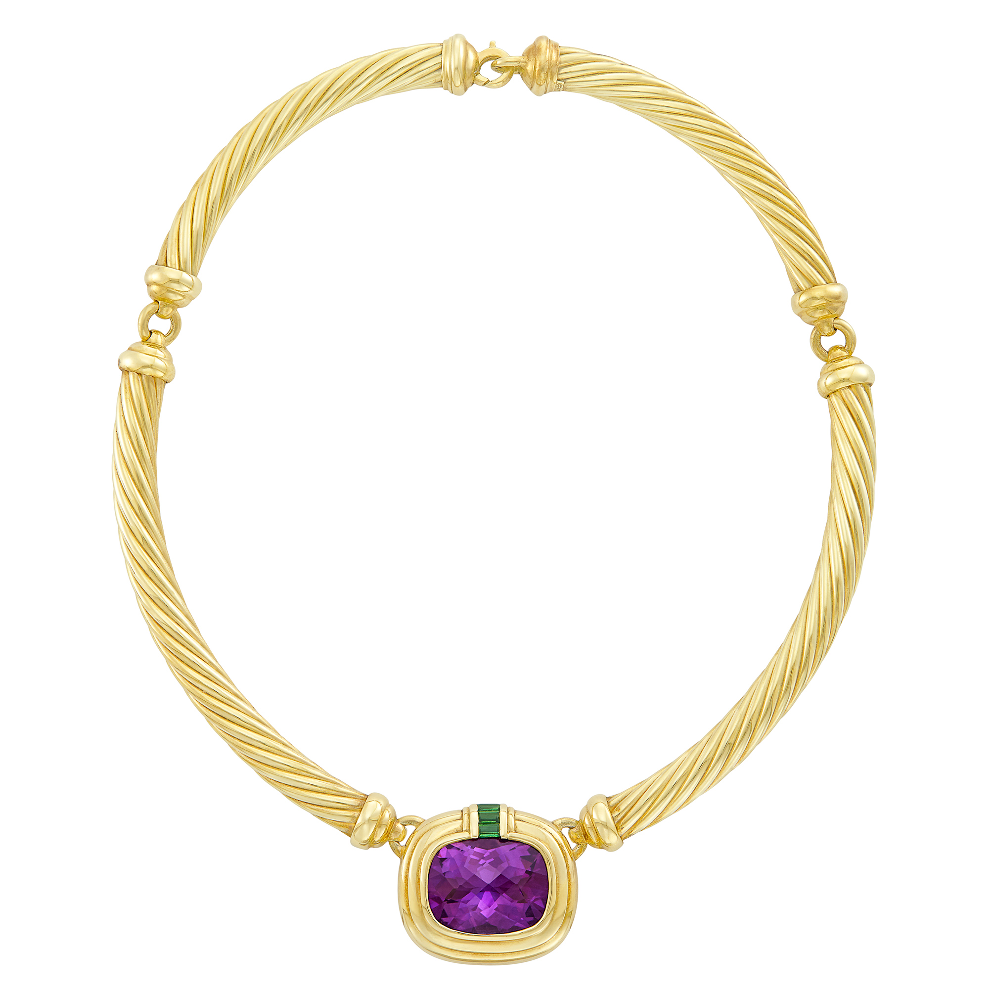 Lot image - Gold, Amethyst and Tourmaline Necklace, David Yurman