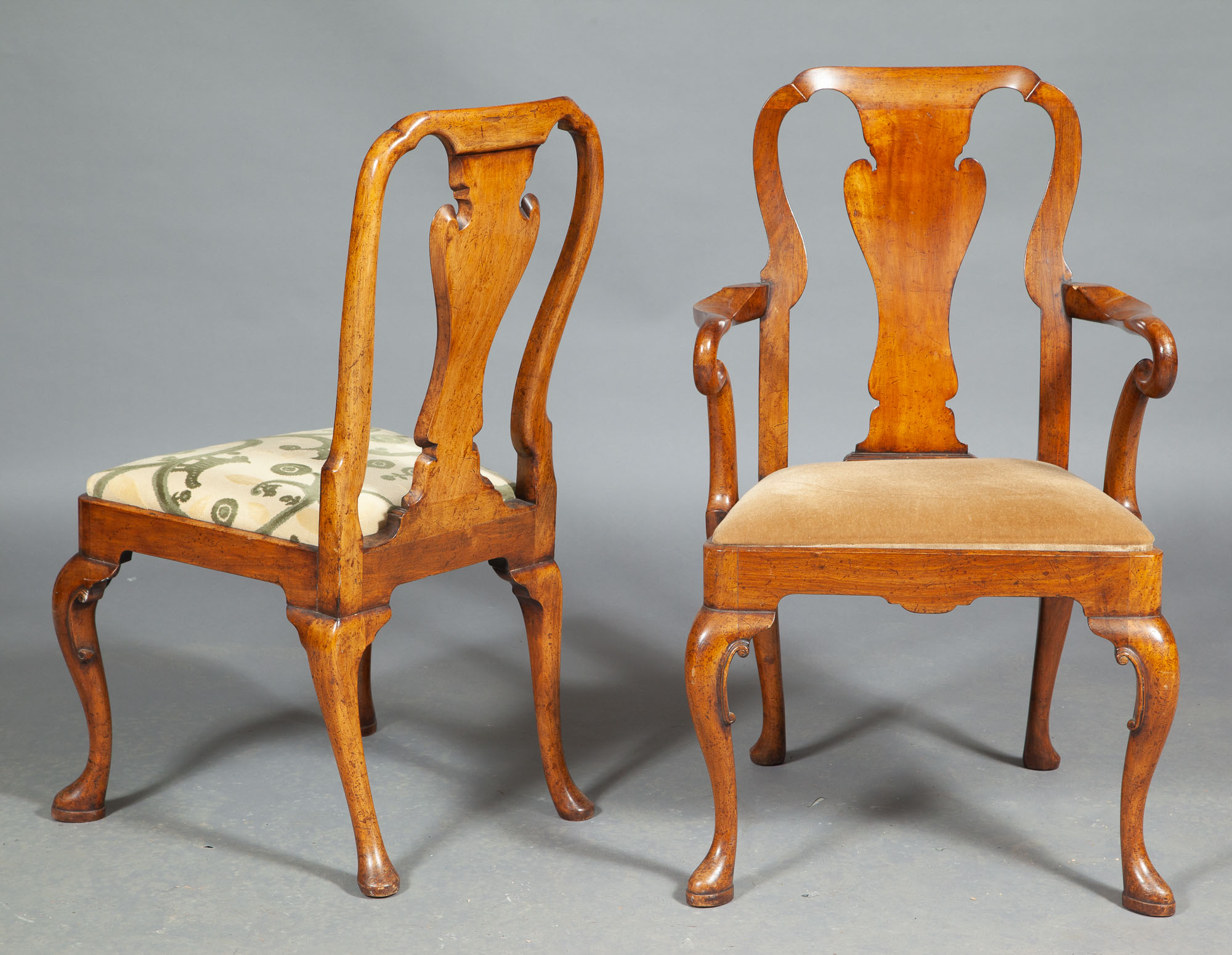 Lot image - Set of Ten George II Style Dining Chairs