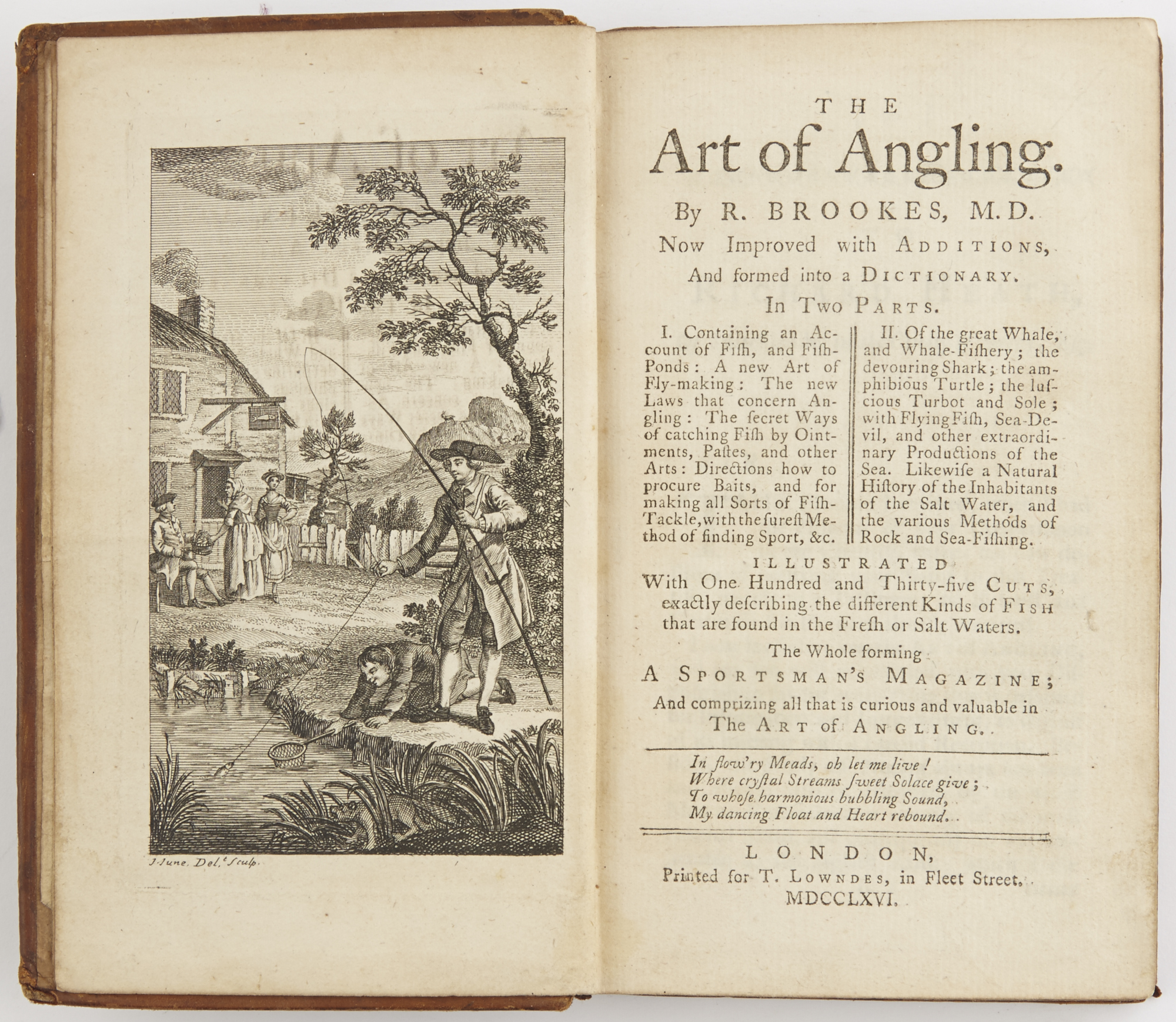 Lot image - BROOKES, R.[ICHARD]  The Art of Angling.