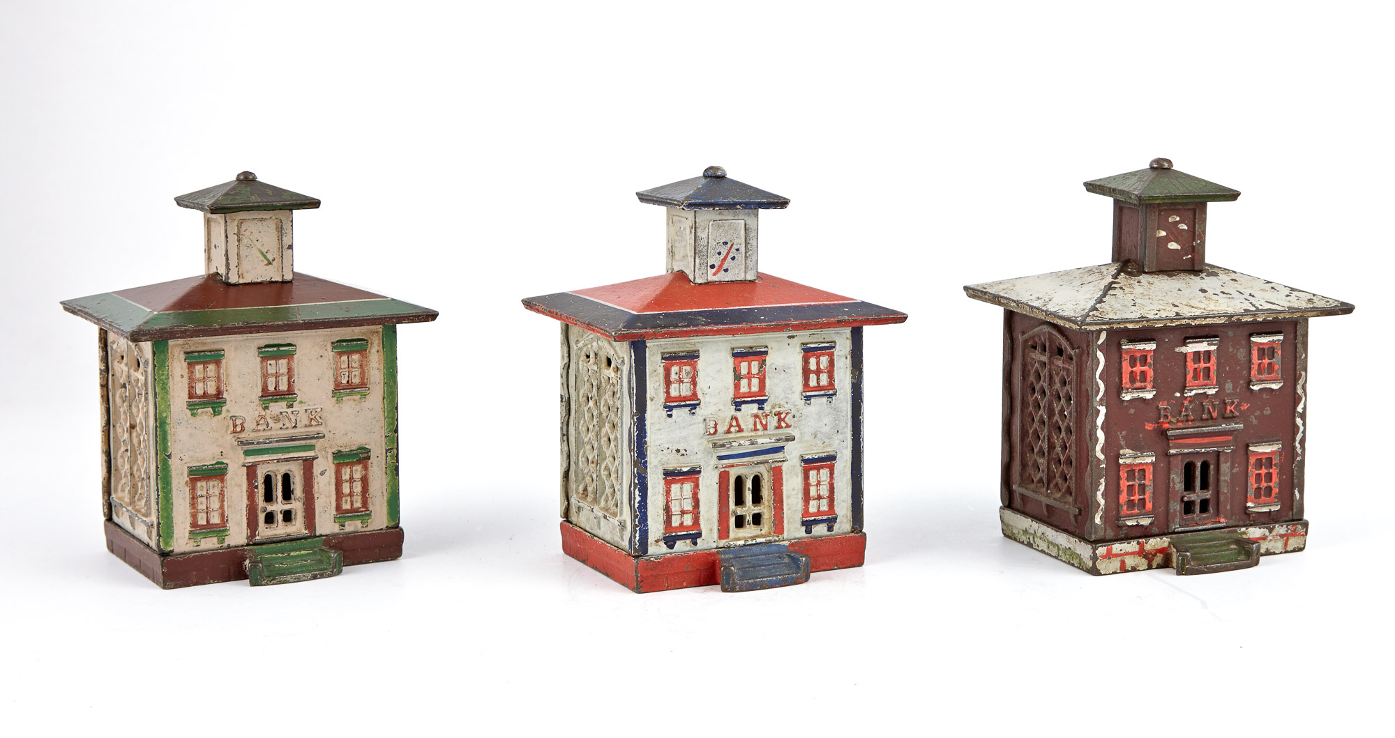 Lot image - Group of Three Still Banks with Cupolas