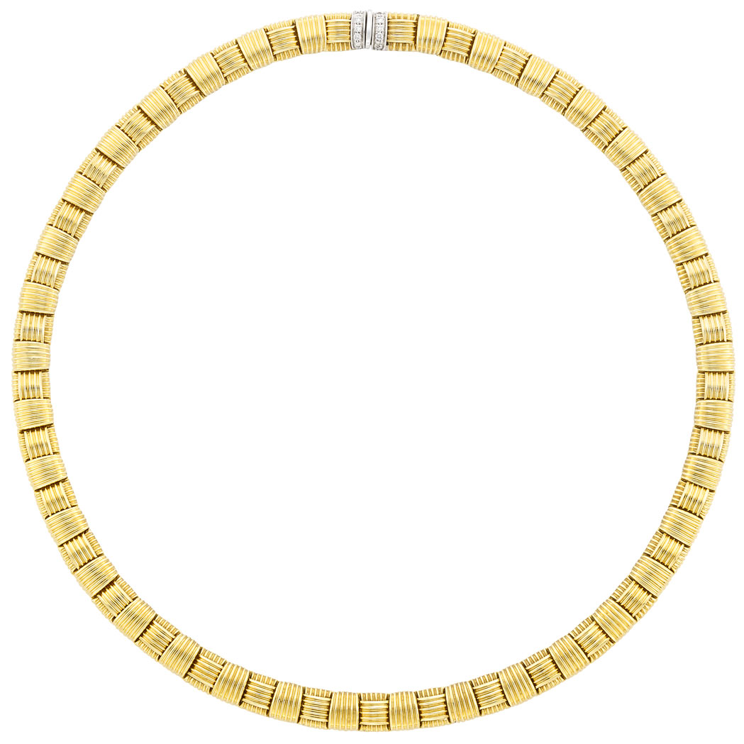 Lot image - Gold and Diamond Necklace, Roberto Coin