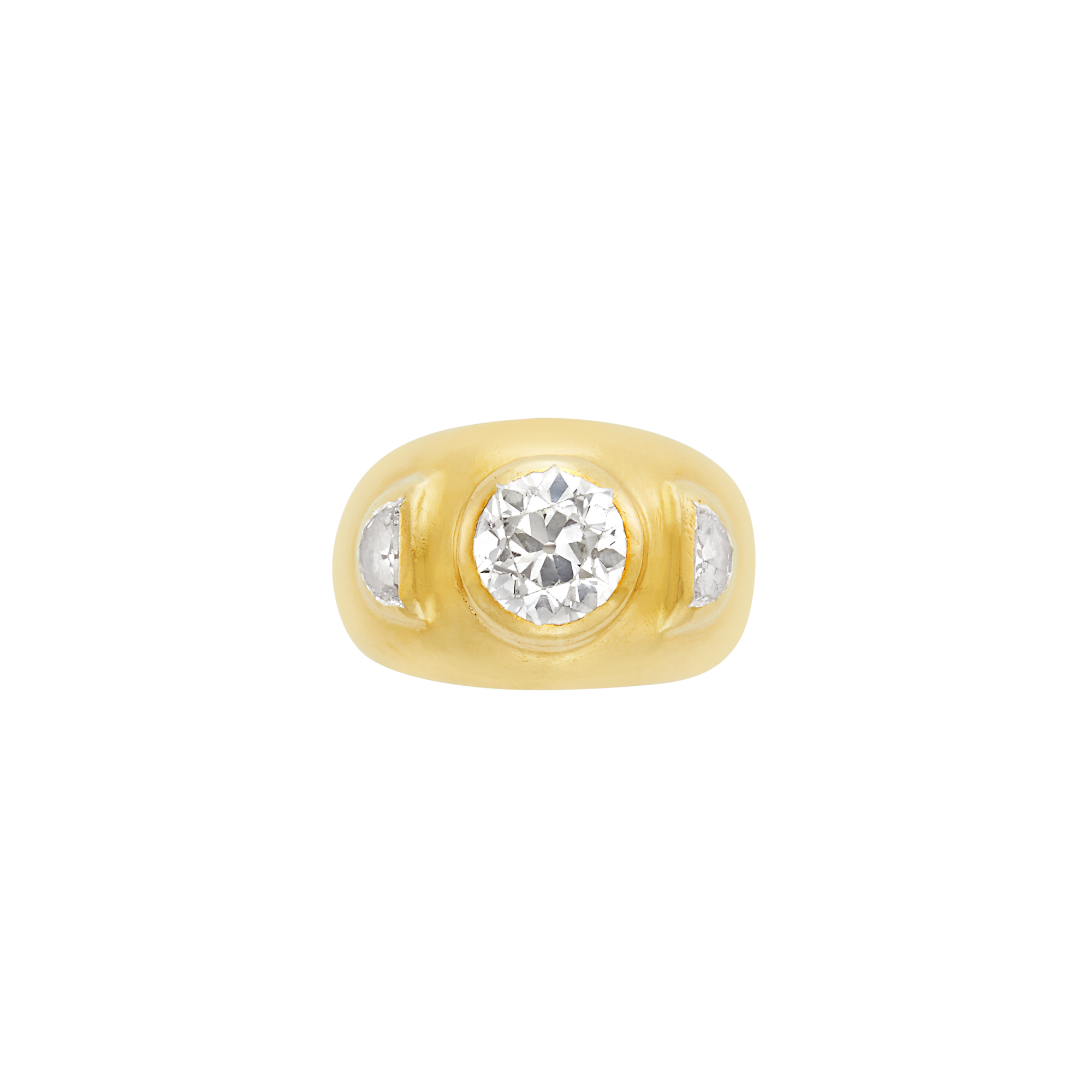 Lot image - Gold and Diamond Gypsy Ring